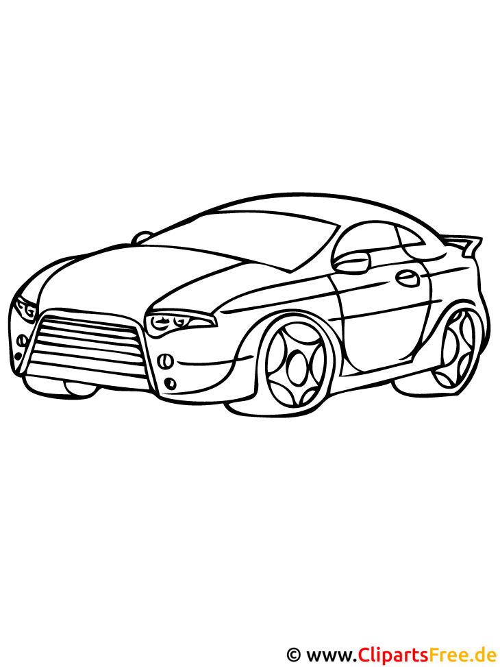 Sportwagen Ausmalbild - Autos Malvorlagen
