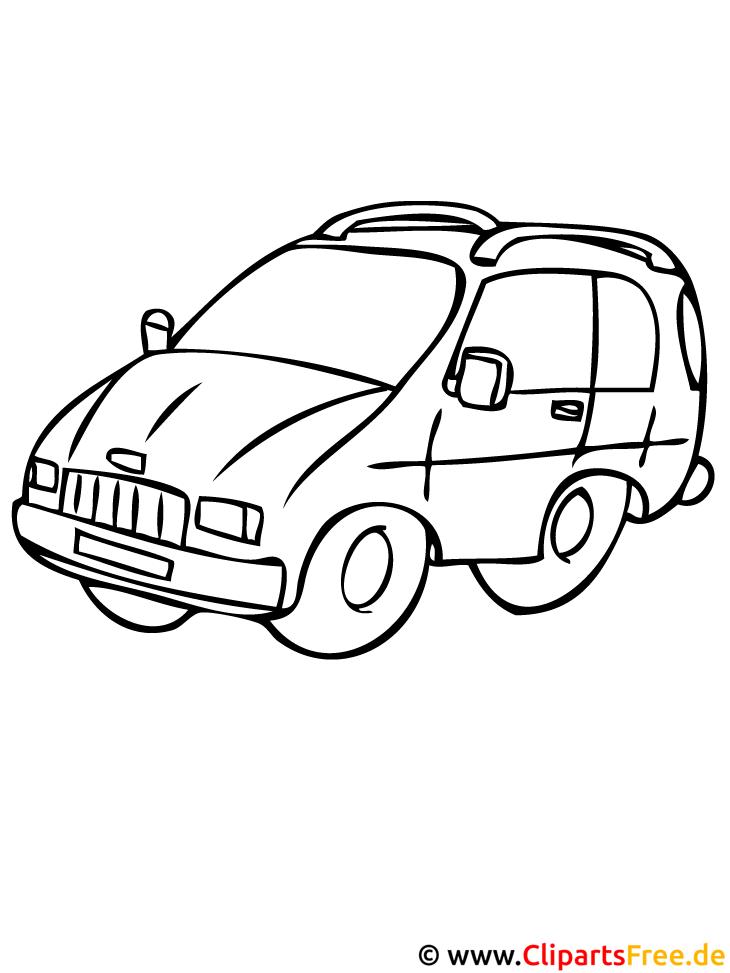Wagen Malvorlage gratis herunterladen
