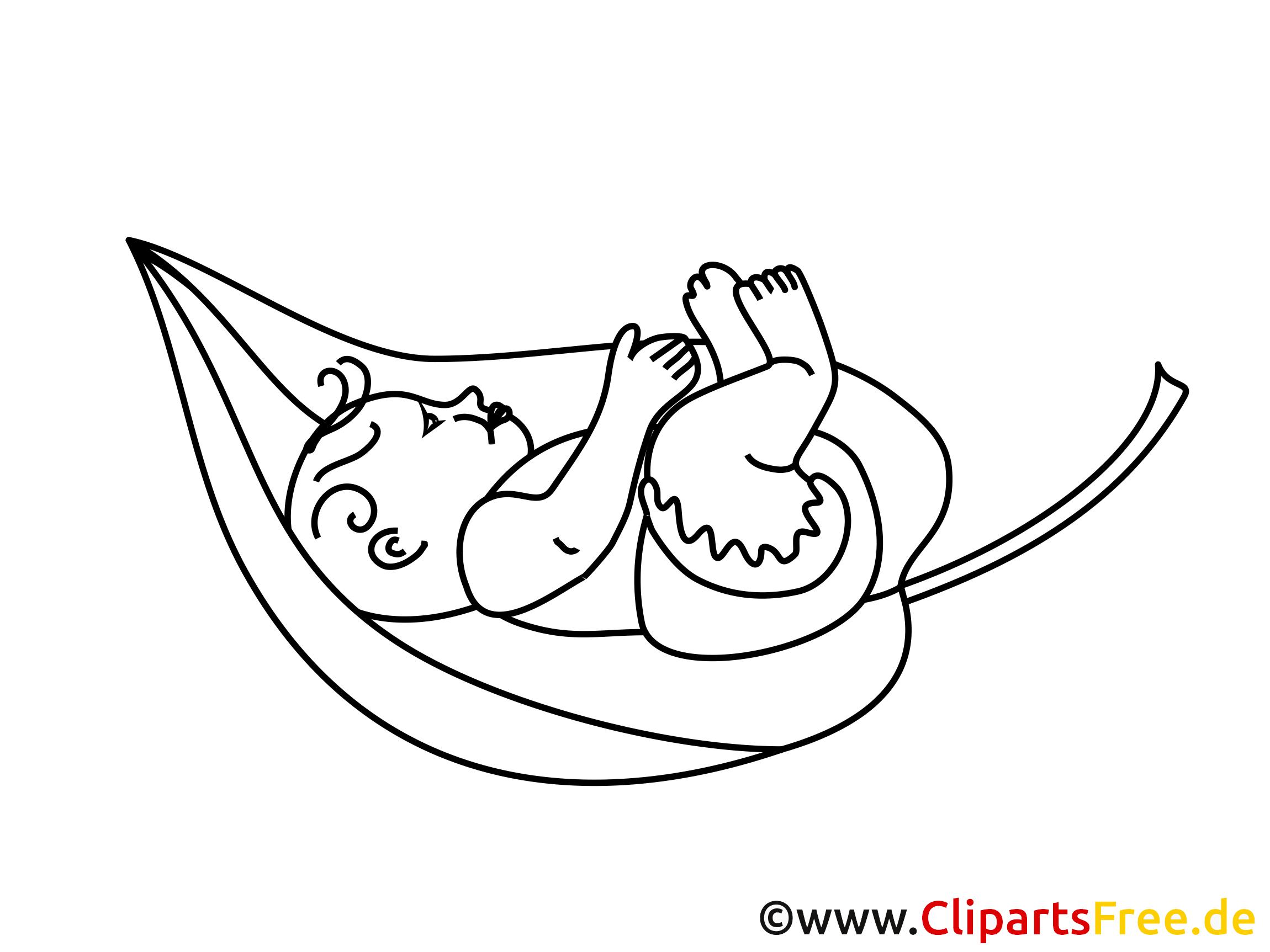 kostenloses ausmalbild baby auf dem baumblatt