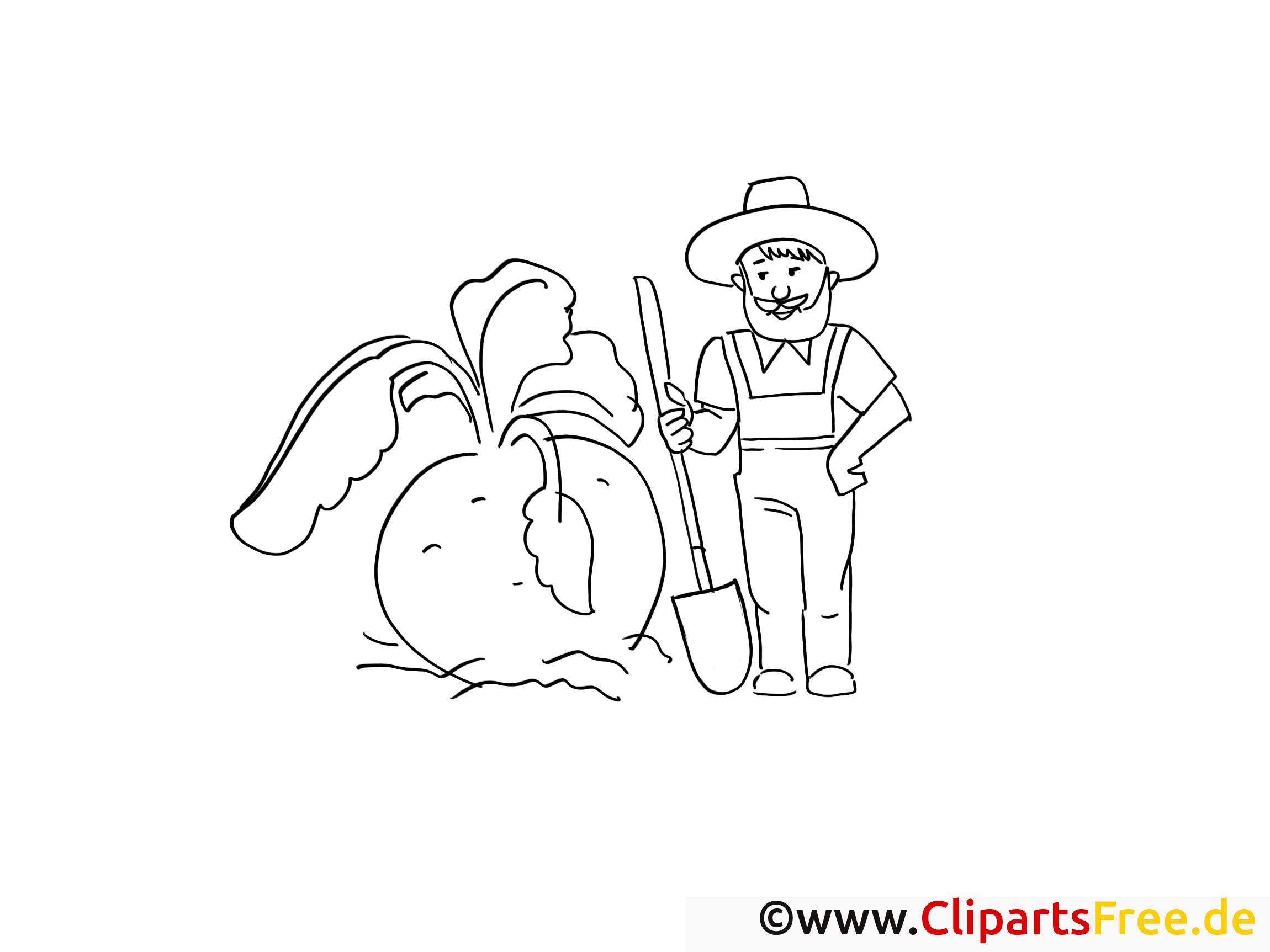 Bauer Ausmalbild zum Ausmalen kostenlos