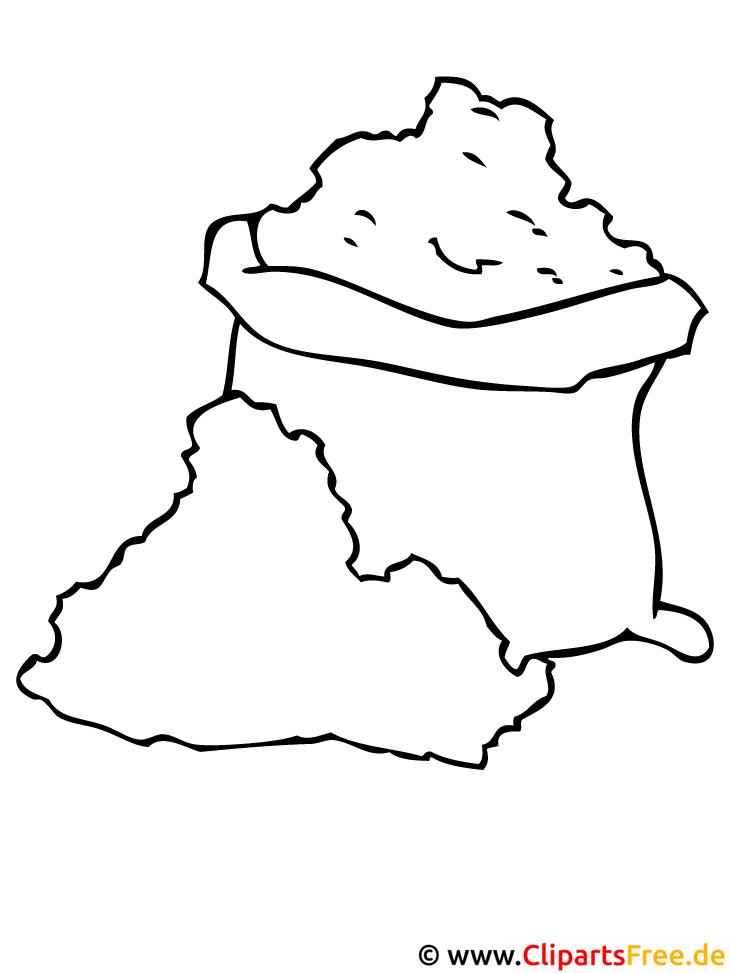 Bauernhof Malbuch - Sack