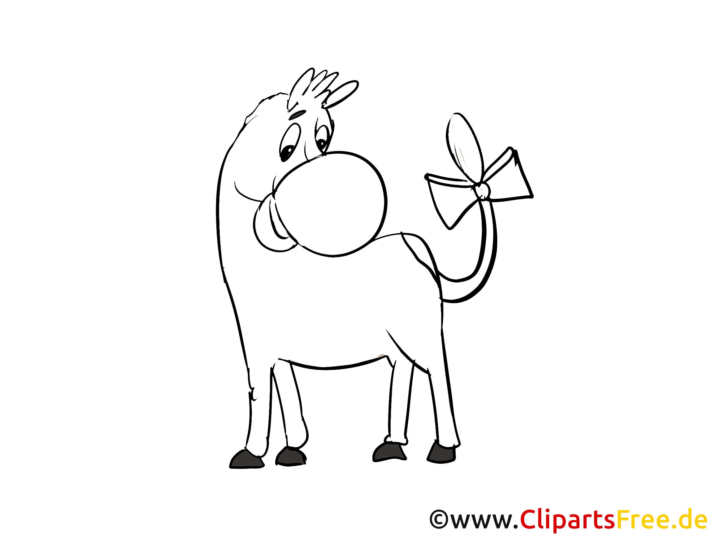 Das Pferd Ausmalbild kostenlos