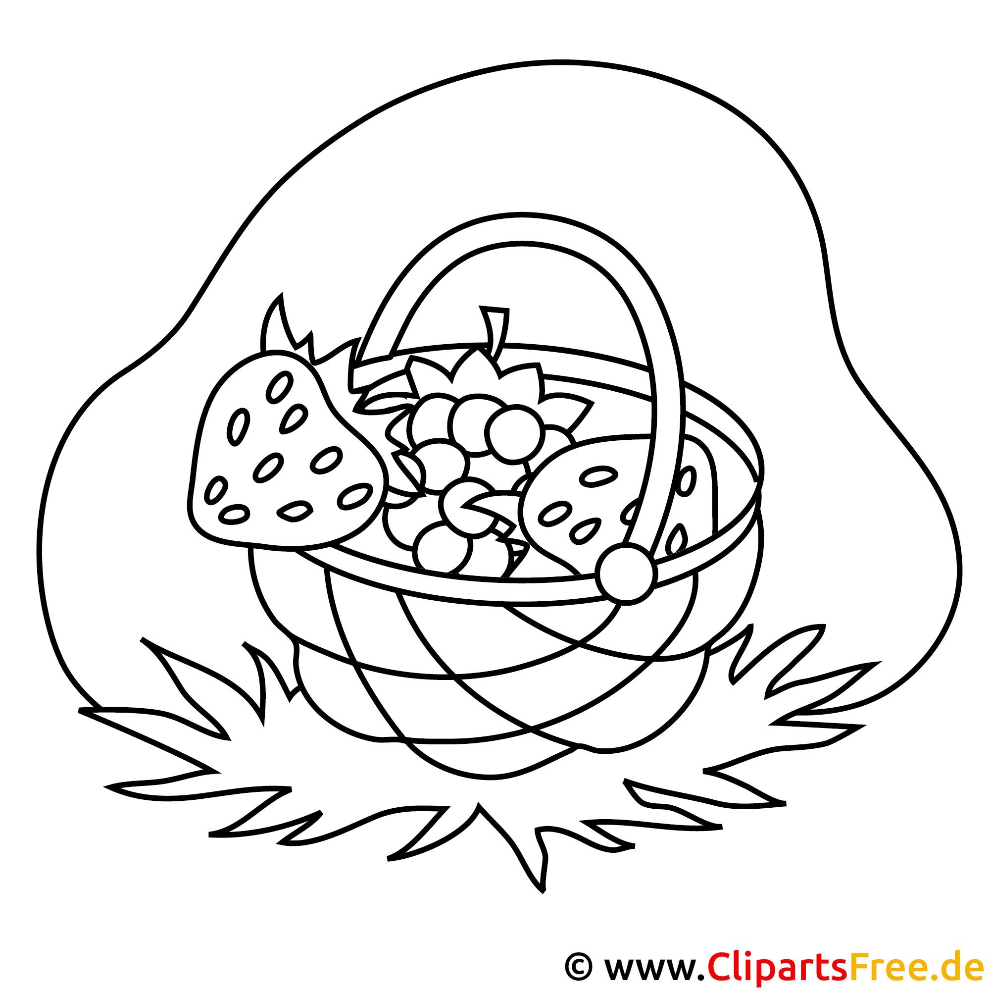 Erdbeeren Bild zum Ausmalen, Malvorlage