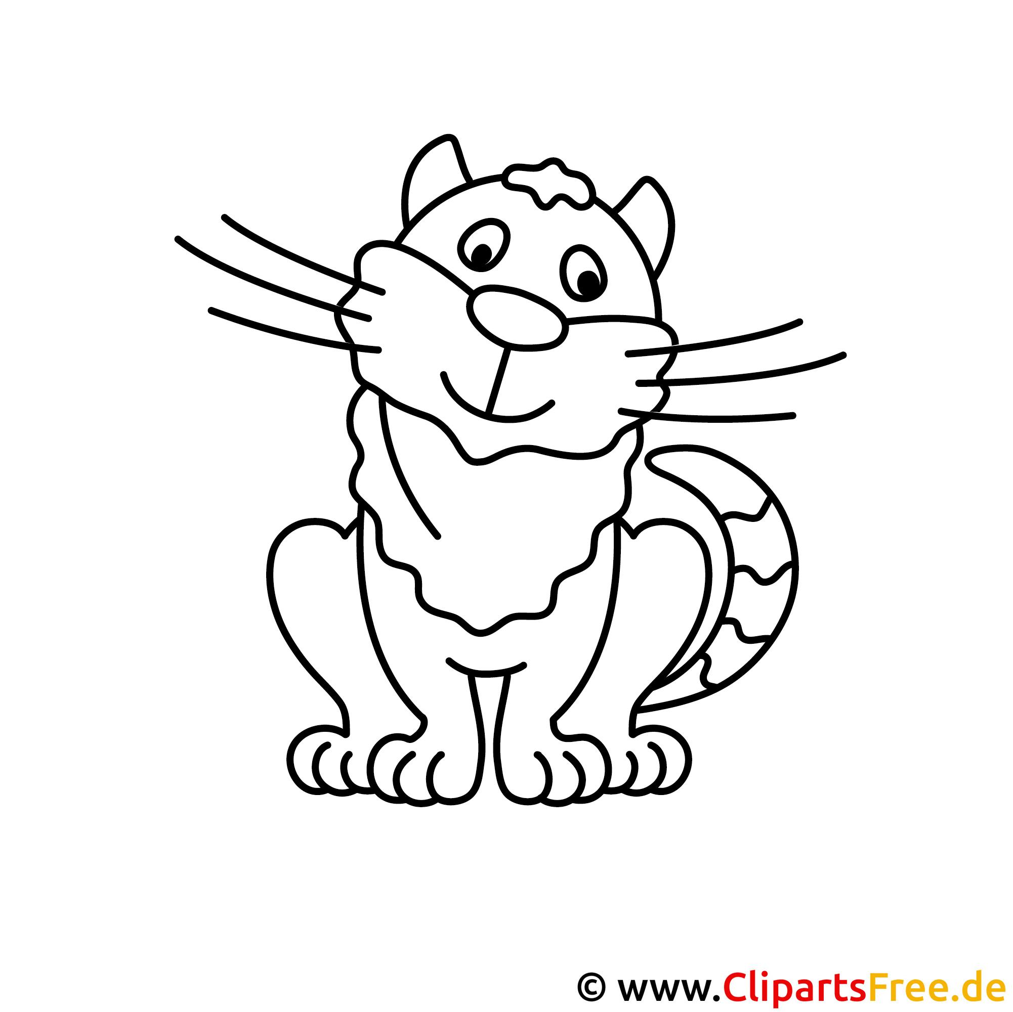 Katze Bild zum Ausmalen, Malvorlage