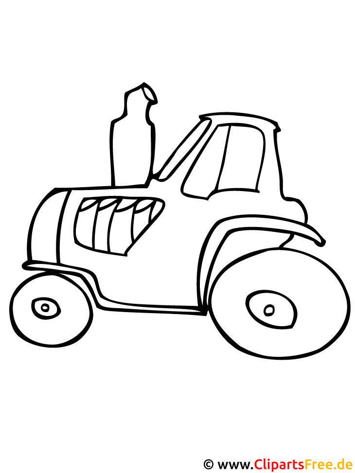 Traktor Ausmalbild Bauernhof