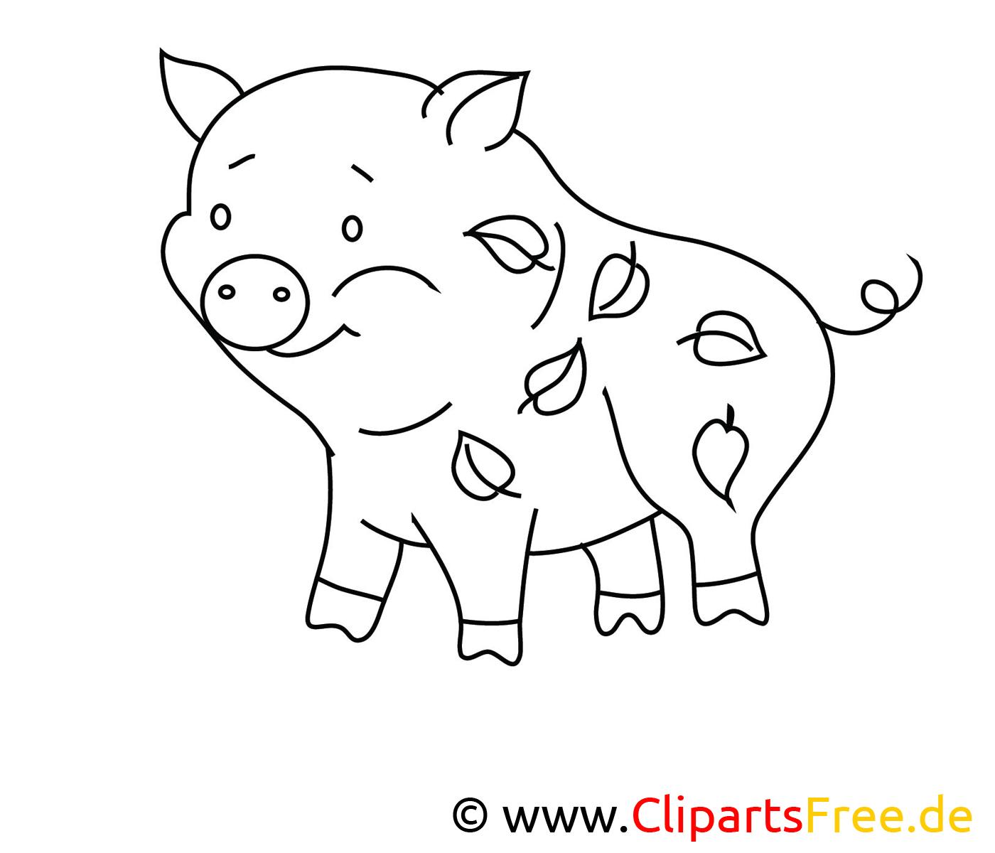 Zeichenvorlage Schwein