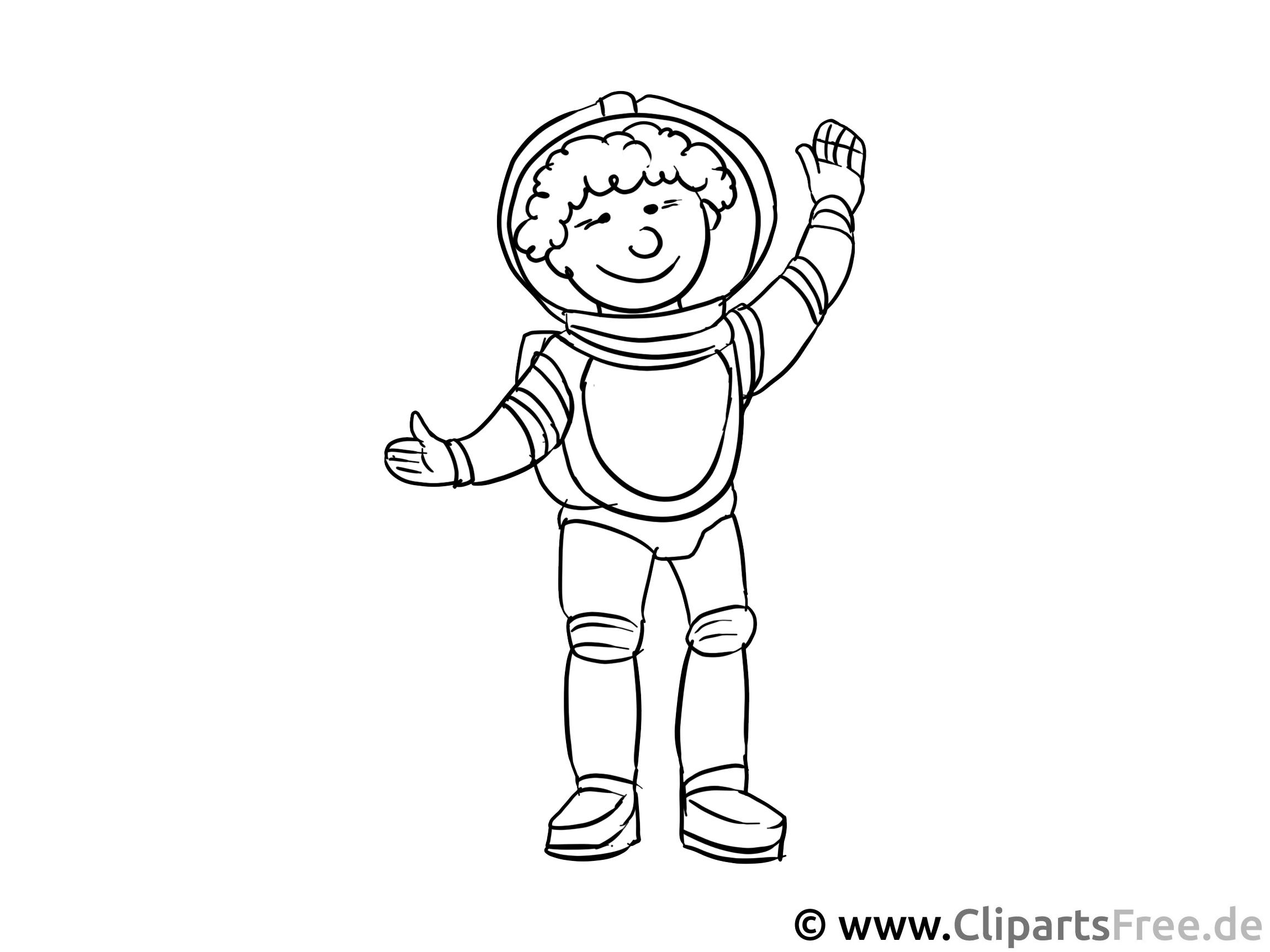 Astronaut Malvorlage - Ausmalbilder Berufe zum Ausdrucken