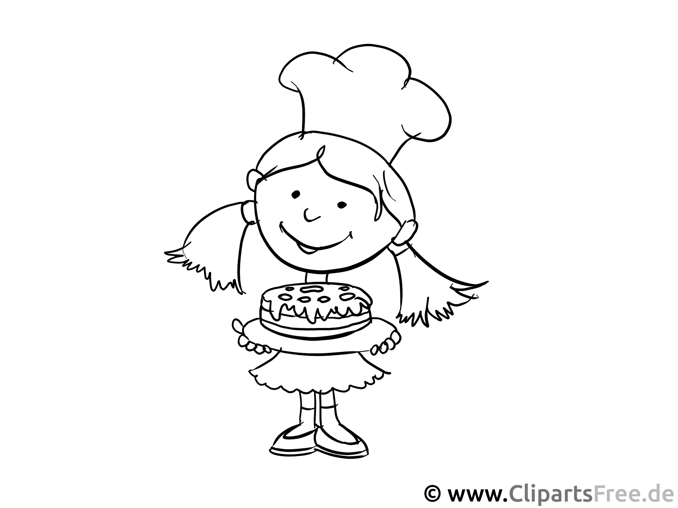 Azubi in Bäckerei - Ausmalbilder Berufe zum Ausdrucken