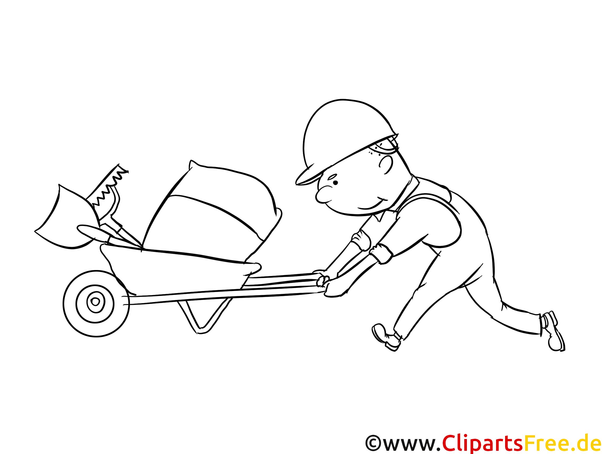 Baustelle Malvorlage zum Drucken und Ausmalen