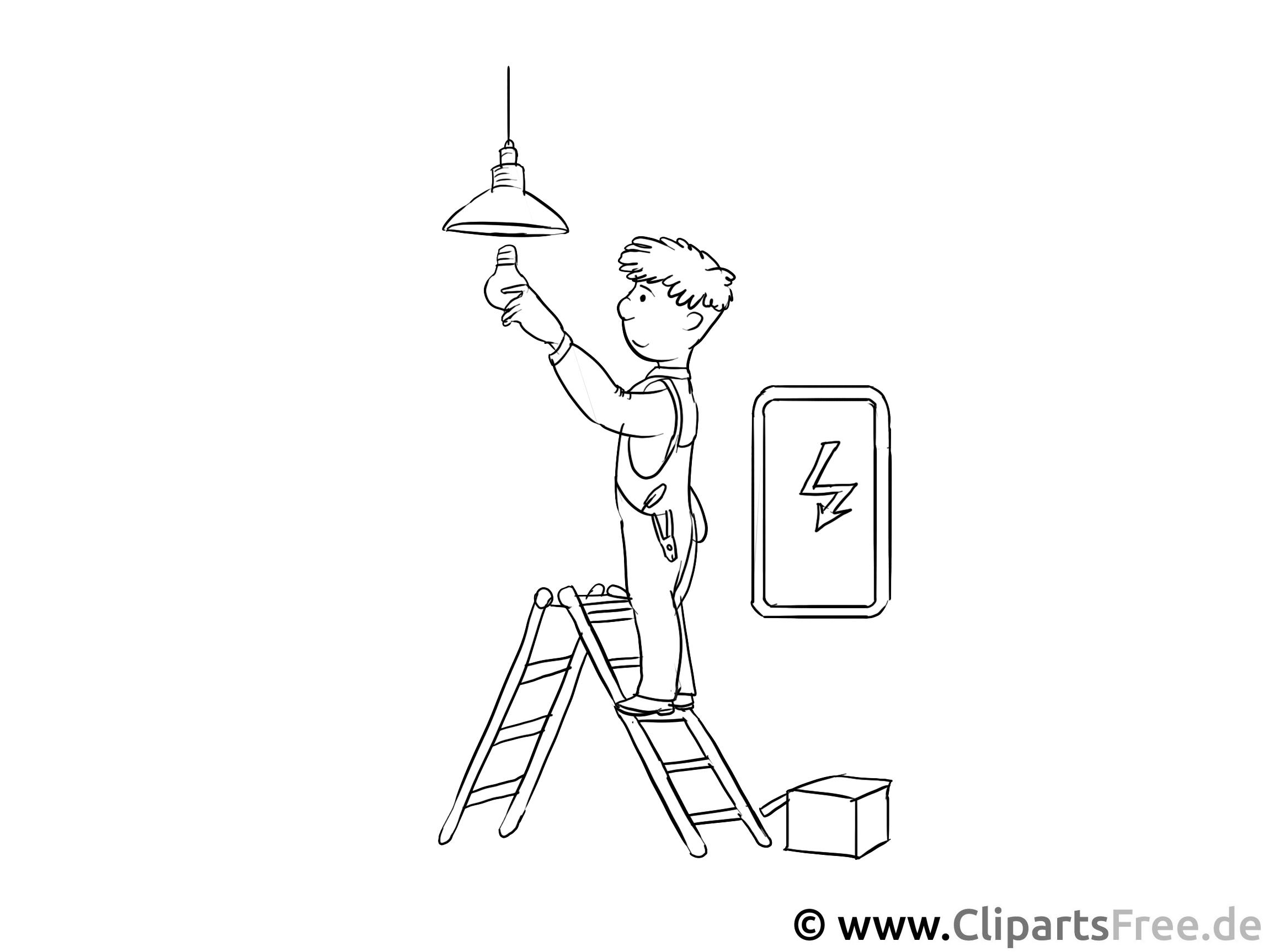 Elektriker Malvorlage - gratis Ausmalbilder zum Ausdrucken