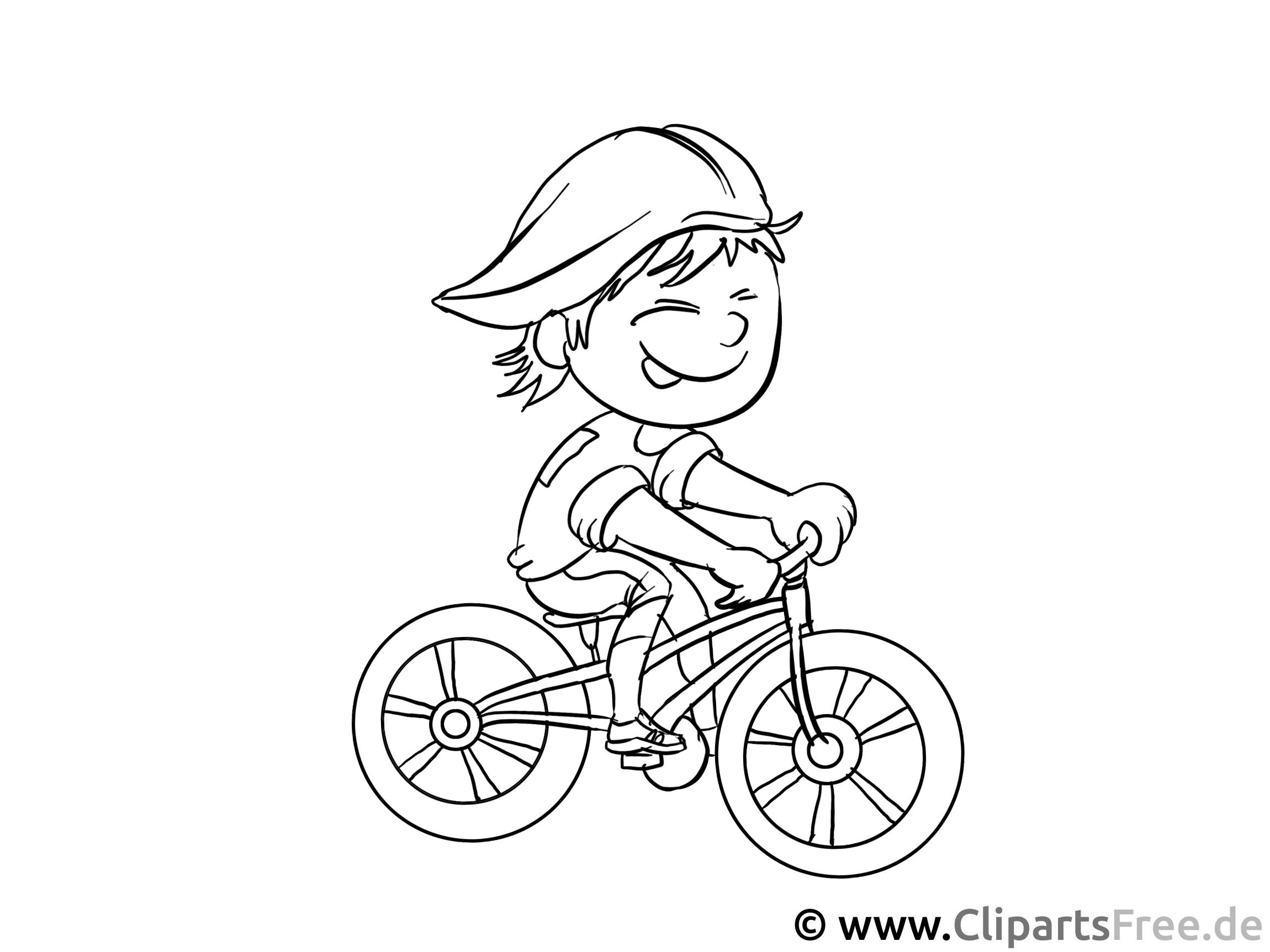 Fahrradfahrer Malvorlage - Arbeitsblätter und Malvorlagen Berufe