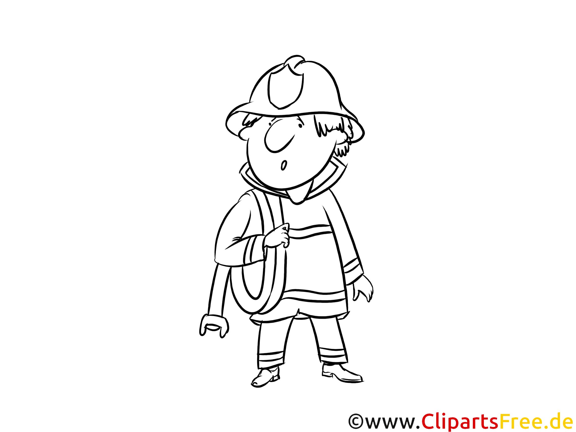 Kolorowanka-malowanka dla dzieci strażak pożarna