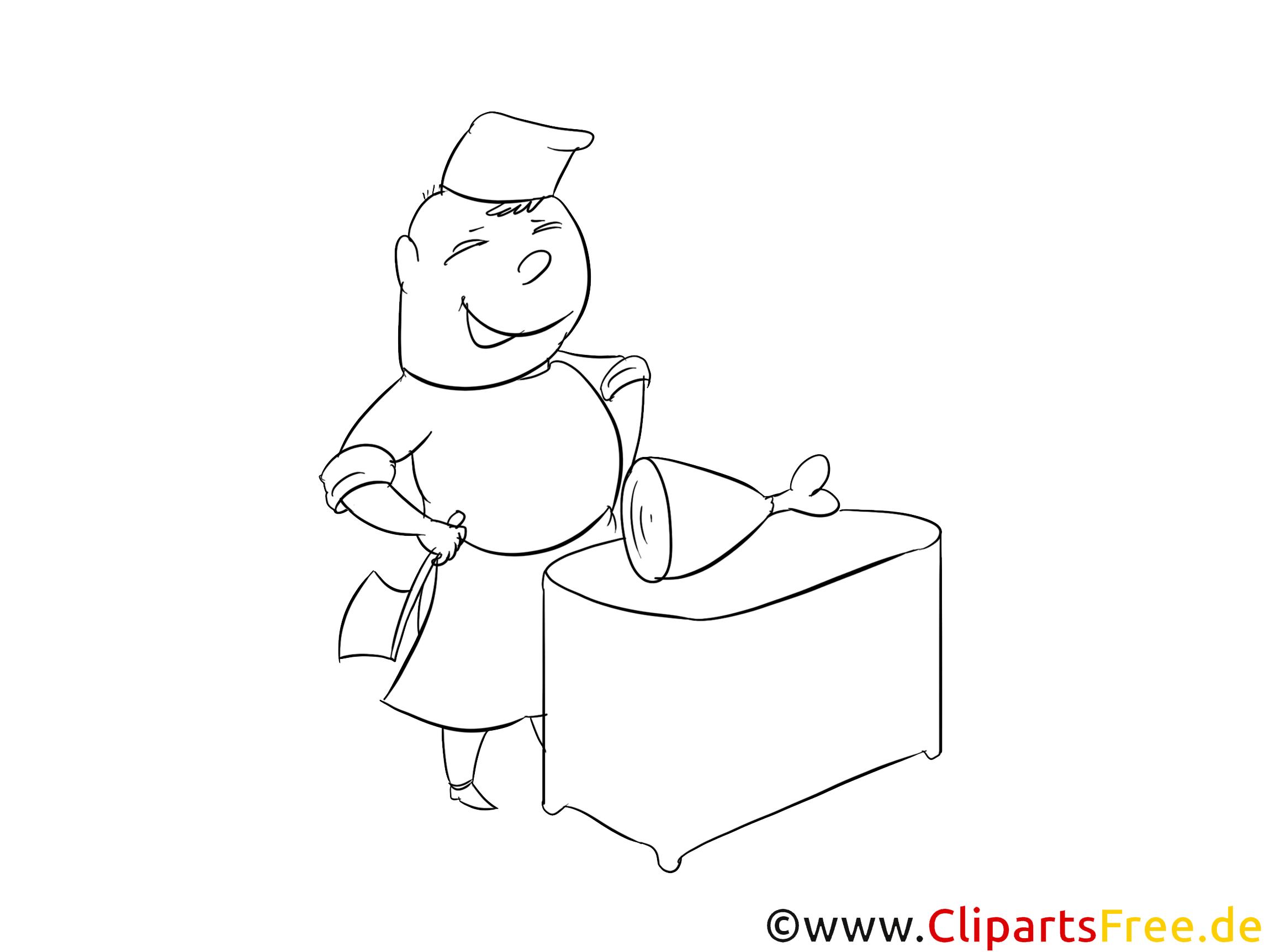 Fleischer Malvorlage zum Drucken und Ausmalen