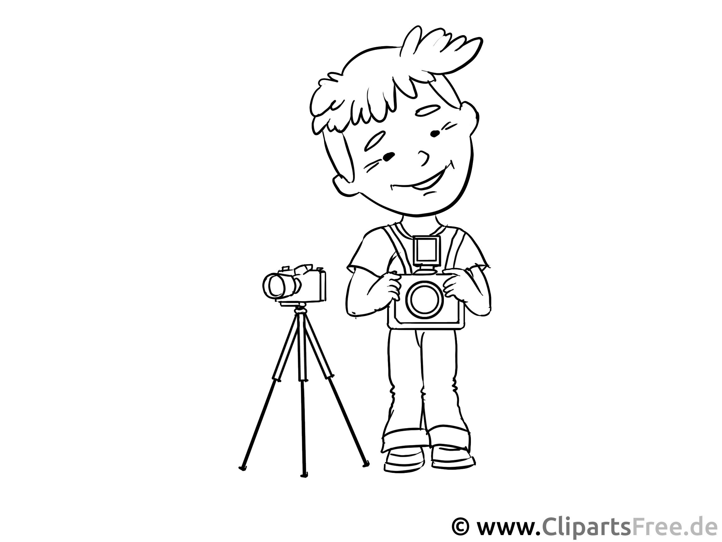 Fotograf - Berufe zum Ausmalen