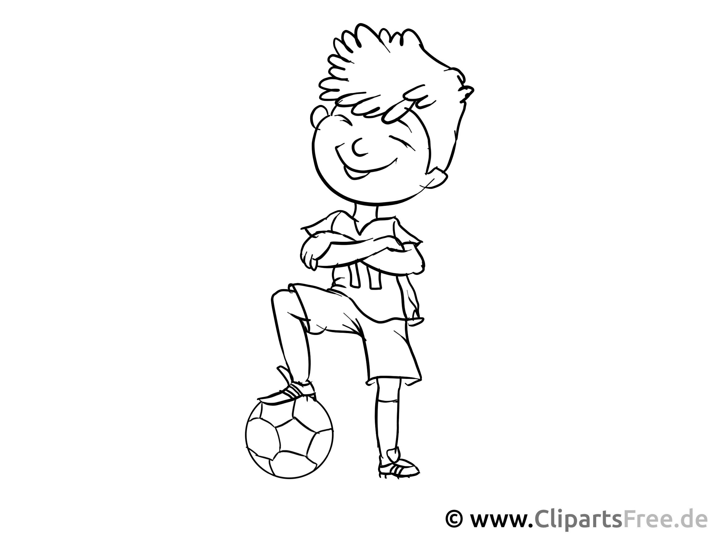 Fussballspieler Malvorlage - Arbeitsblätter und Malvorlagen Berufe