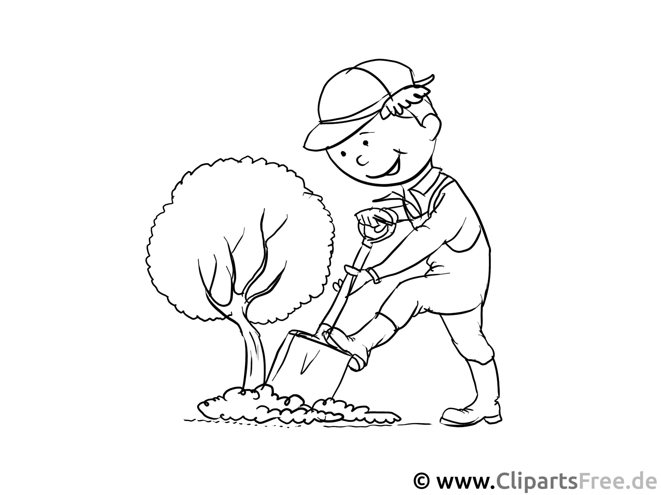 Gärtner Ausmalbild - Beruf Ausmalbilder und Malvorlagen