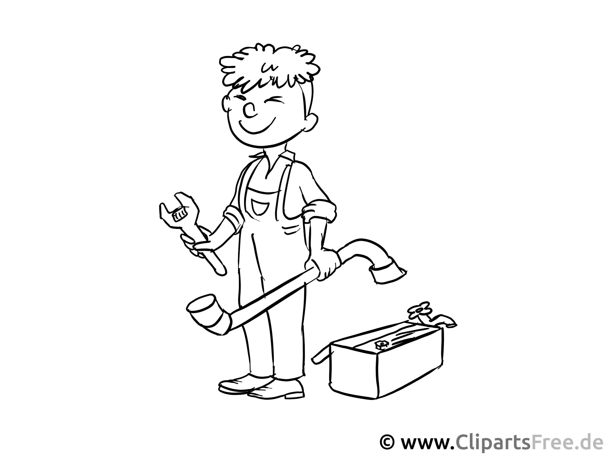 Handwerker - Malvorlagen Berufe