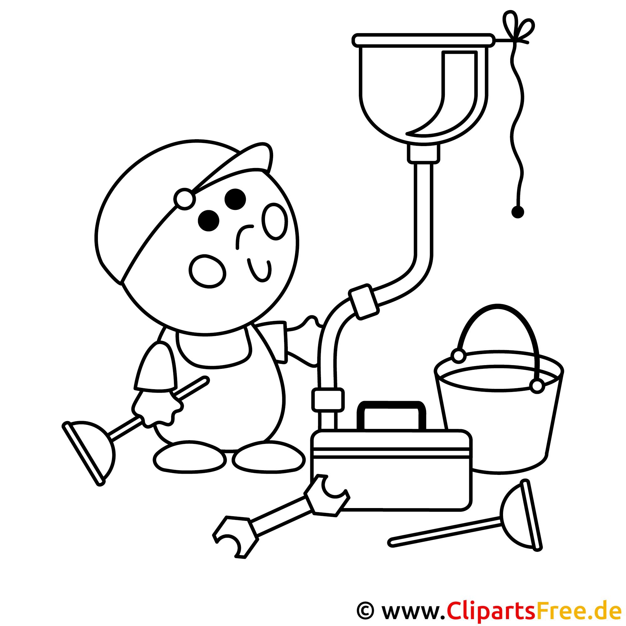 Handwerker Bild zum Ausmalen, Malvorlage