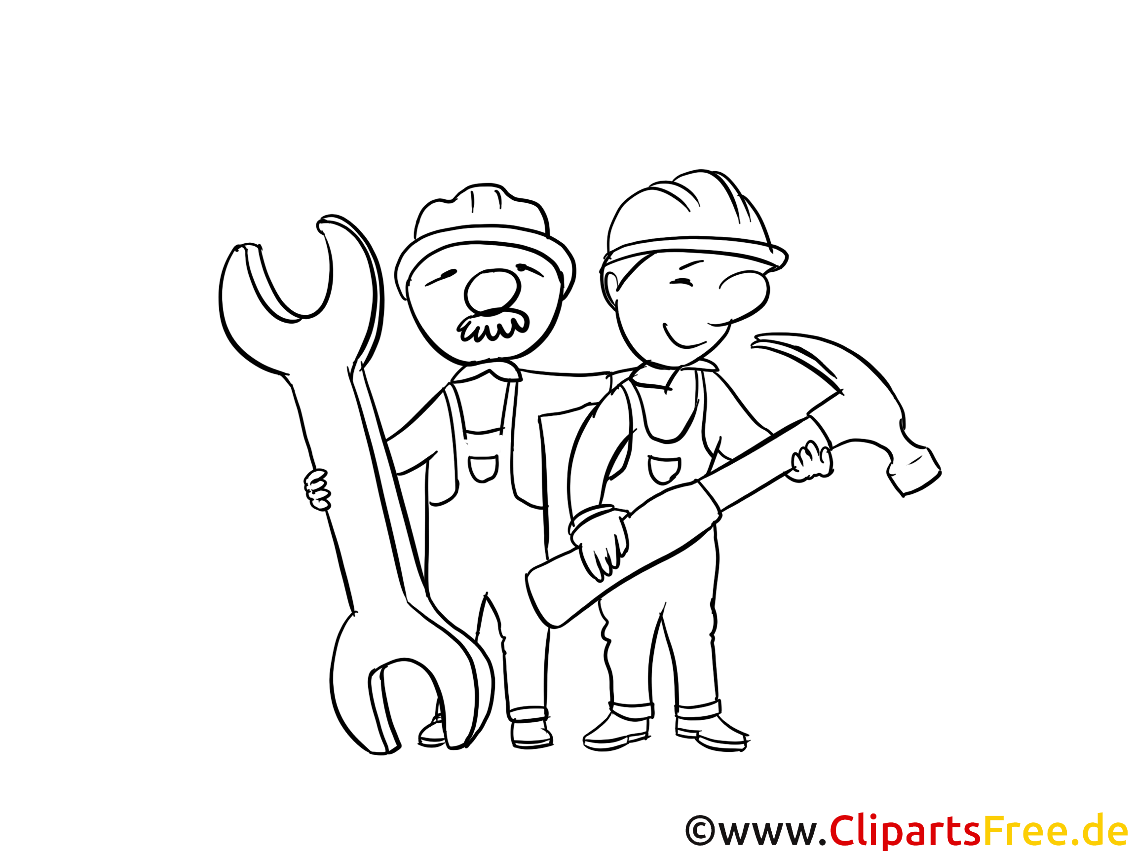 Handwerker Malvorlagen zum Ausdrucken und Ausmalen