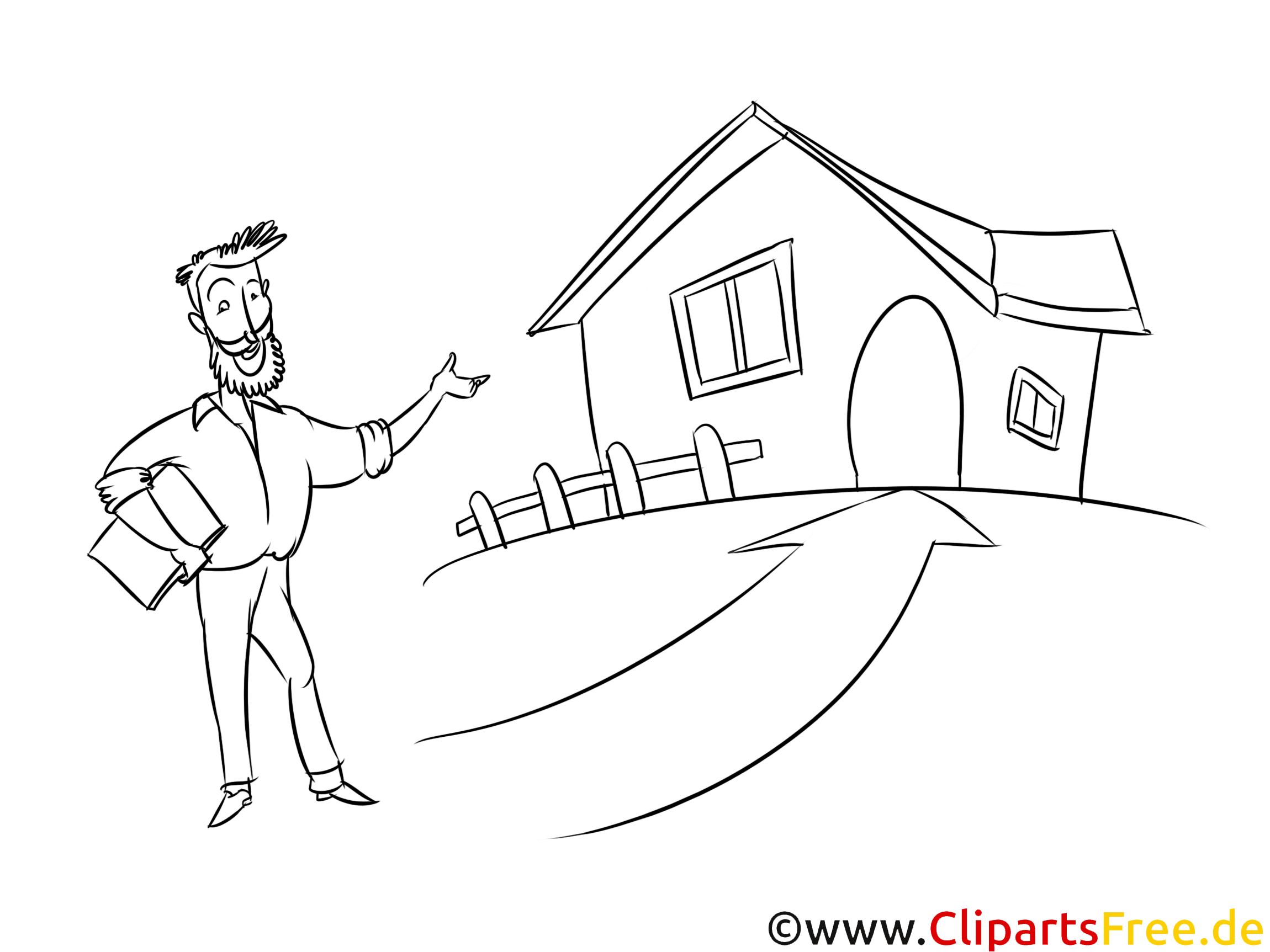 Malvorlage Haus kaufen