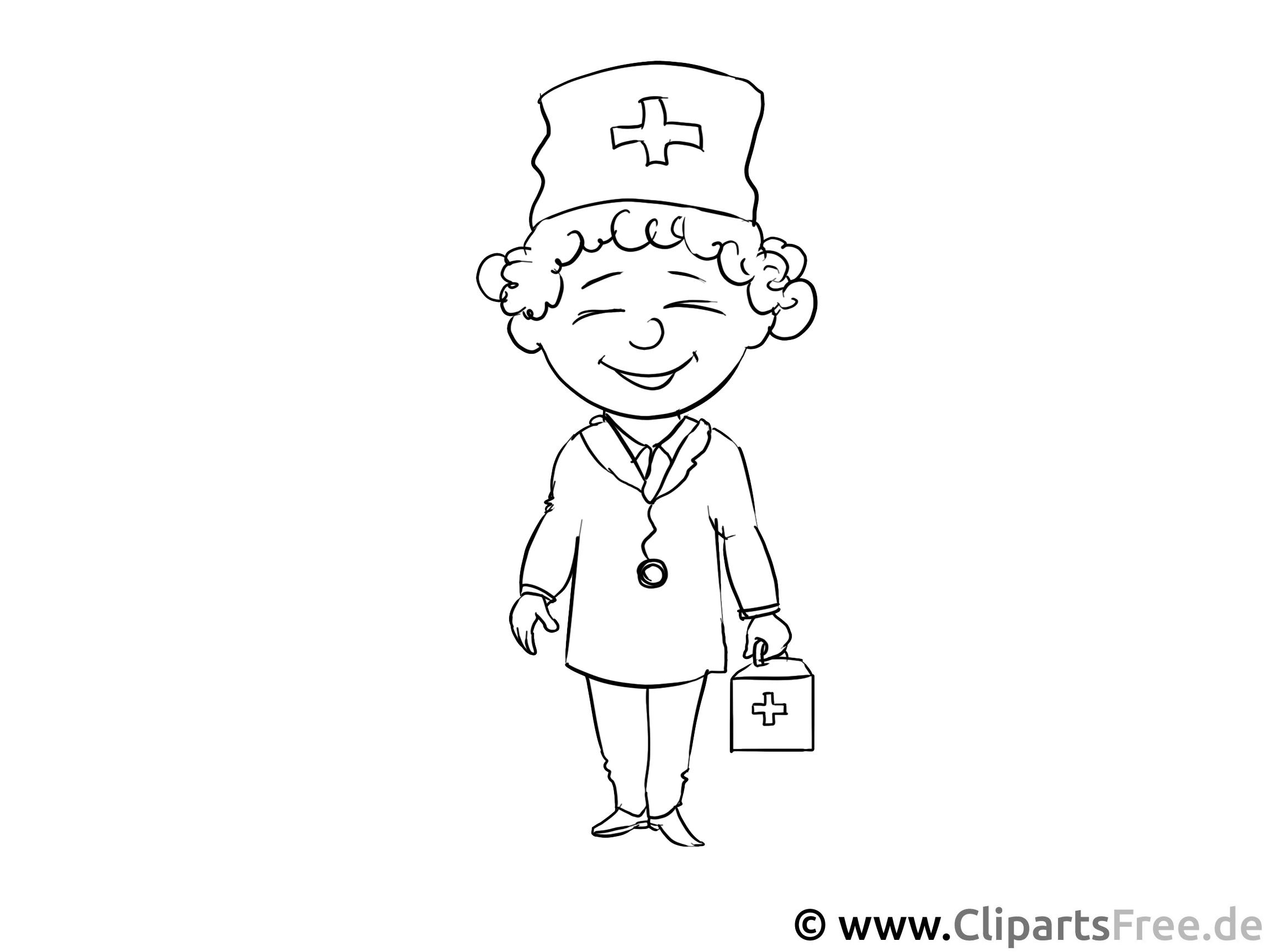 Kinderarzt - Malvorlagen für Kinder kostenlos