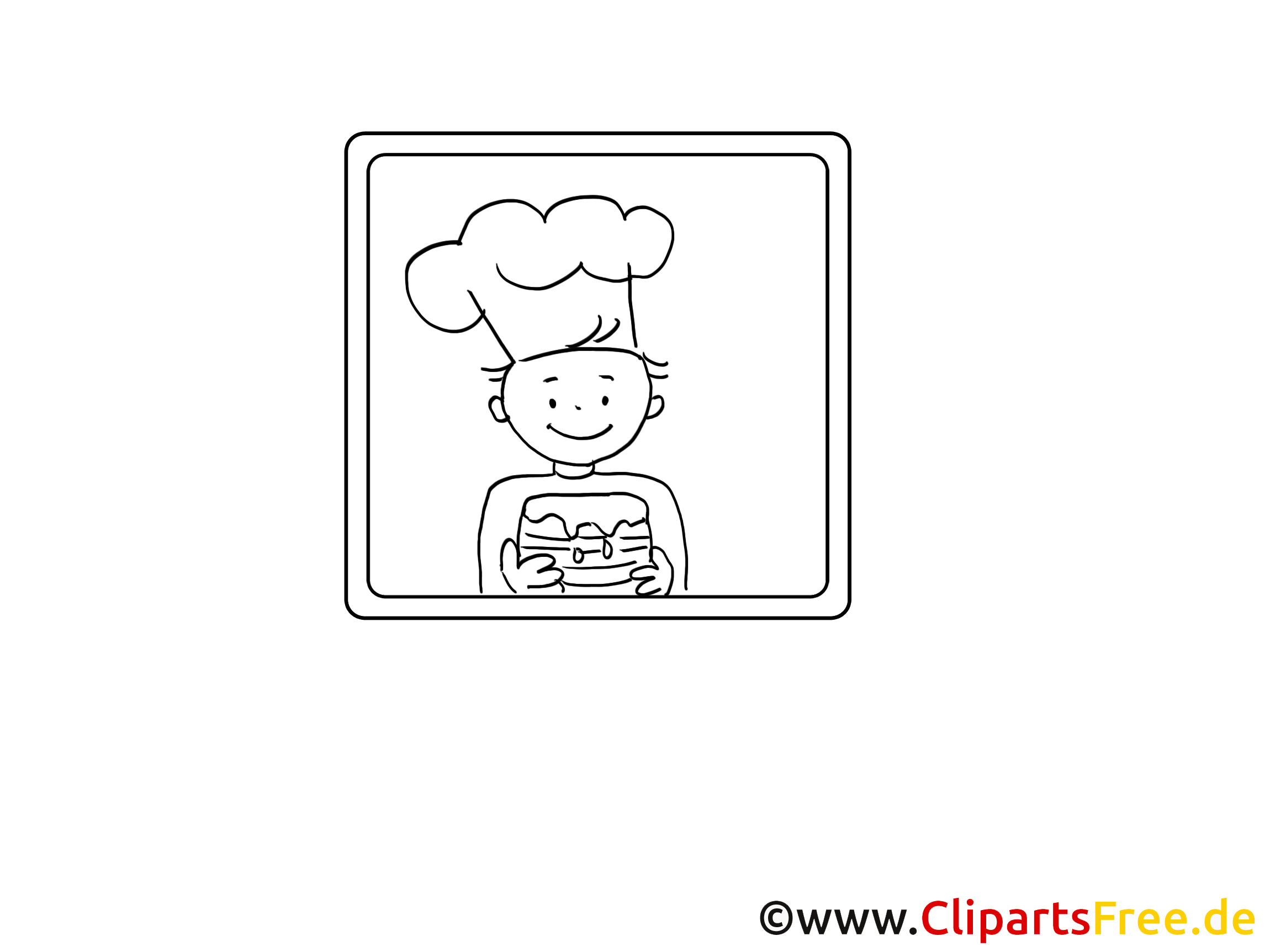 Kleiner Bäcker Malvorlage zum Drucken und Ausmalen
