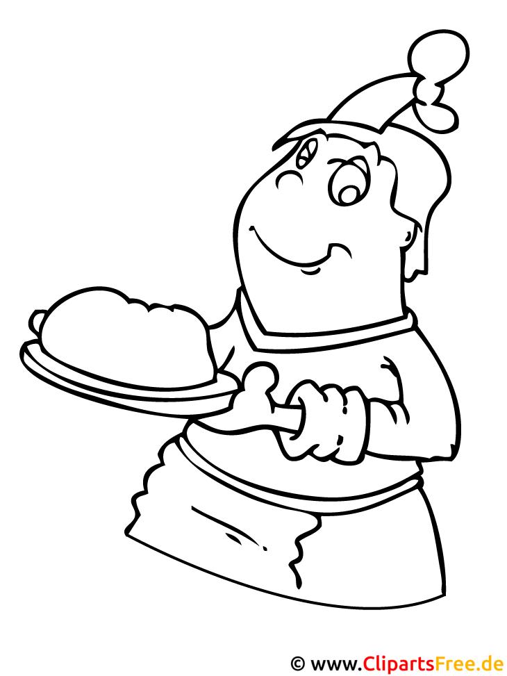 Koch Bild - gratis Bilder zum Ausmalen