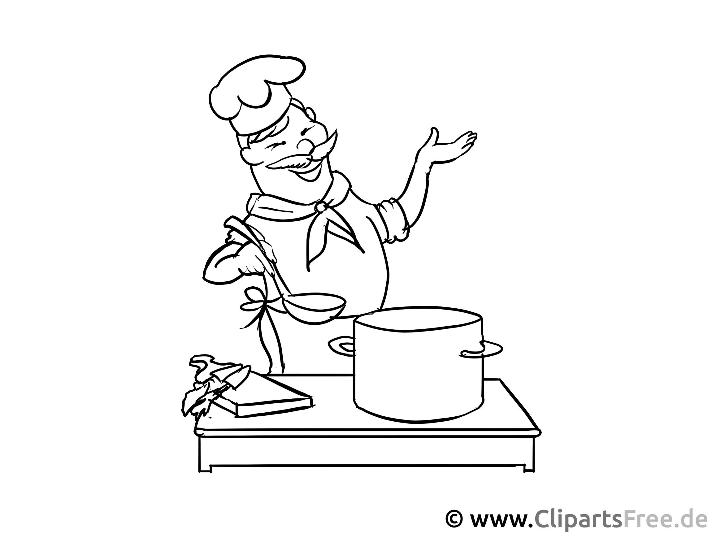 Koch Malvorlage - Berufe Ausmalbilder für den Unterricht