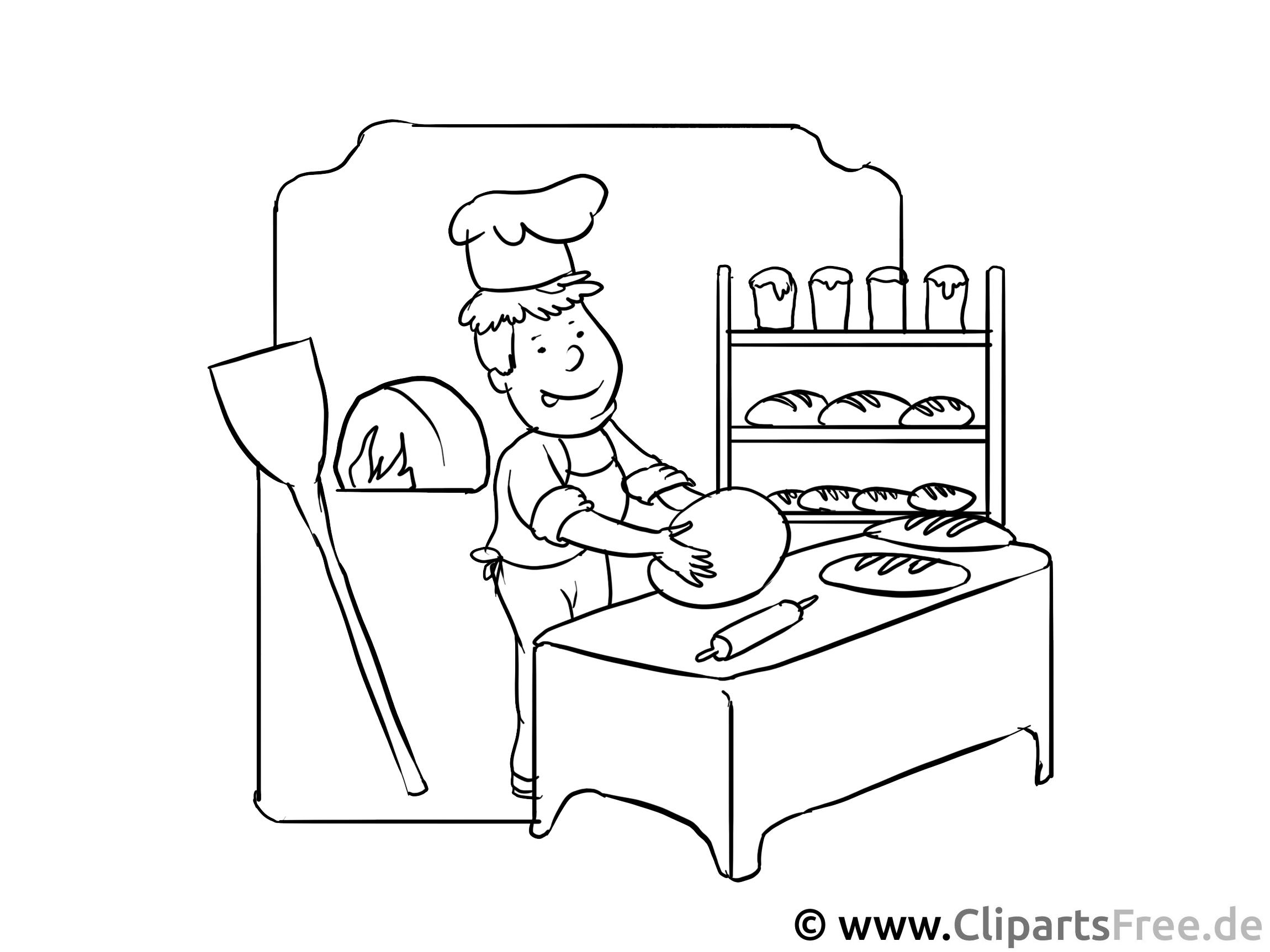 Konditor, Bäcker - Malvorlagen Berufe