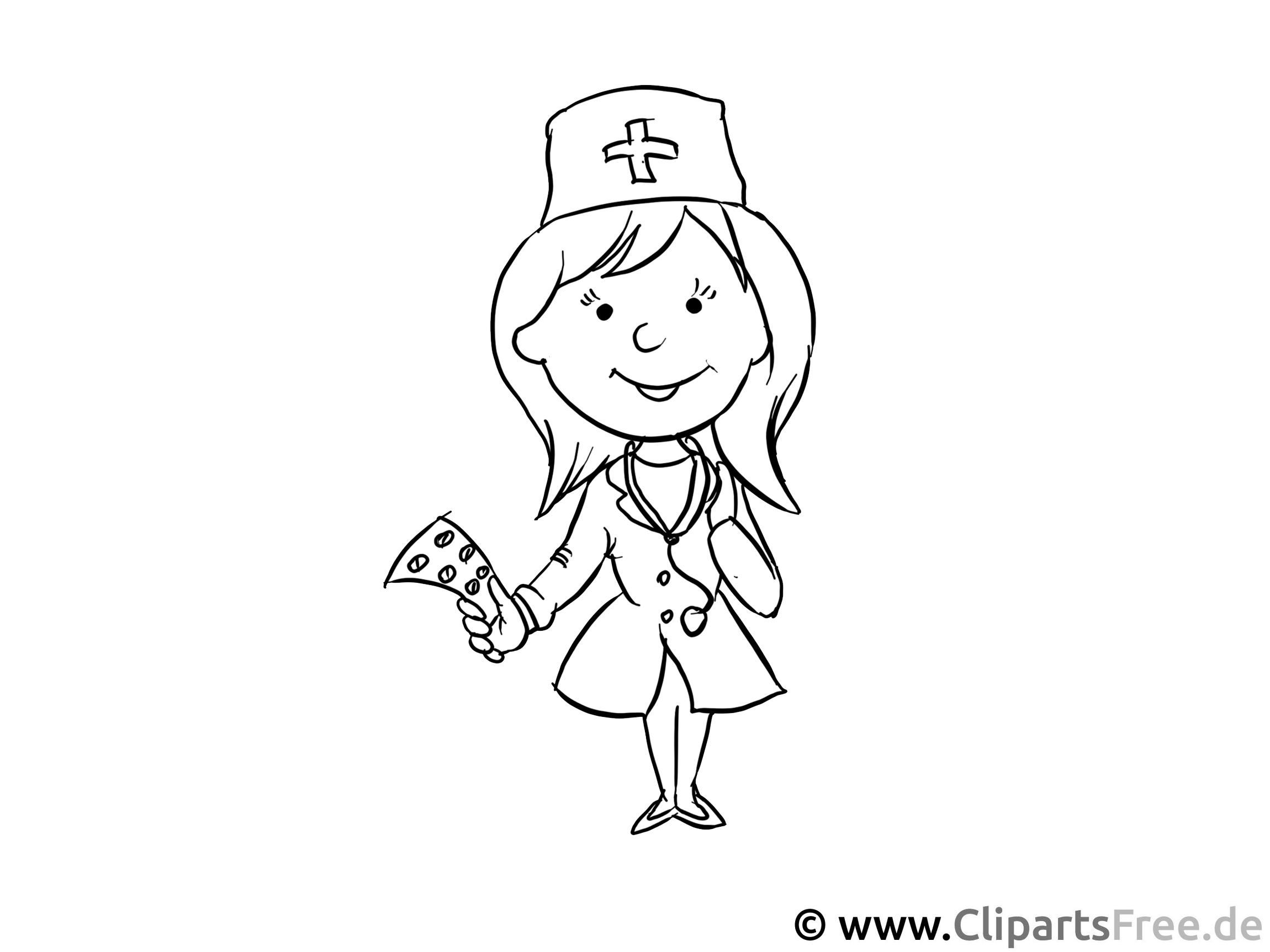 Krankenschwester - Berufe zum Ausmalen