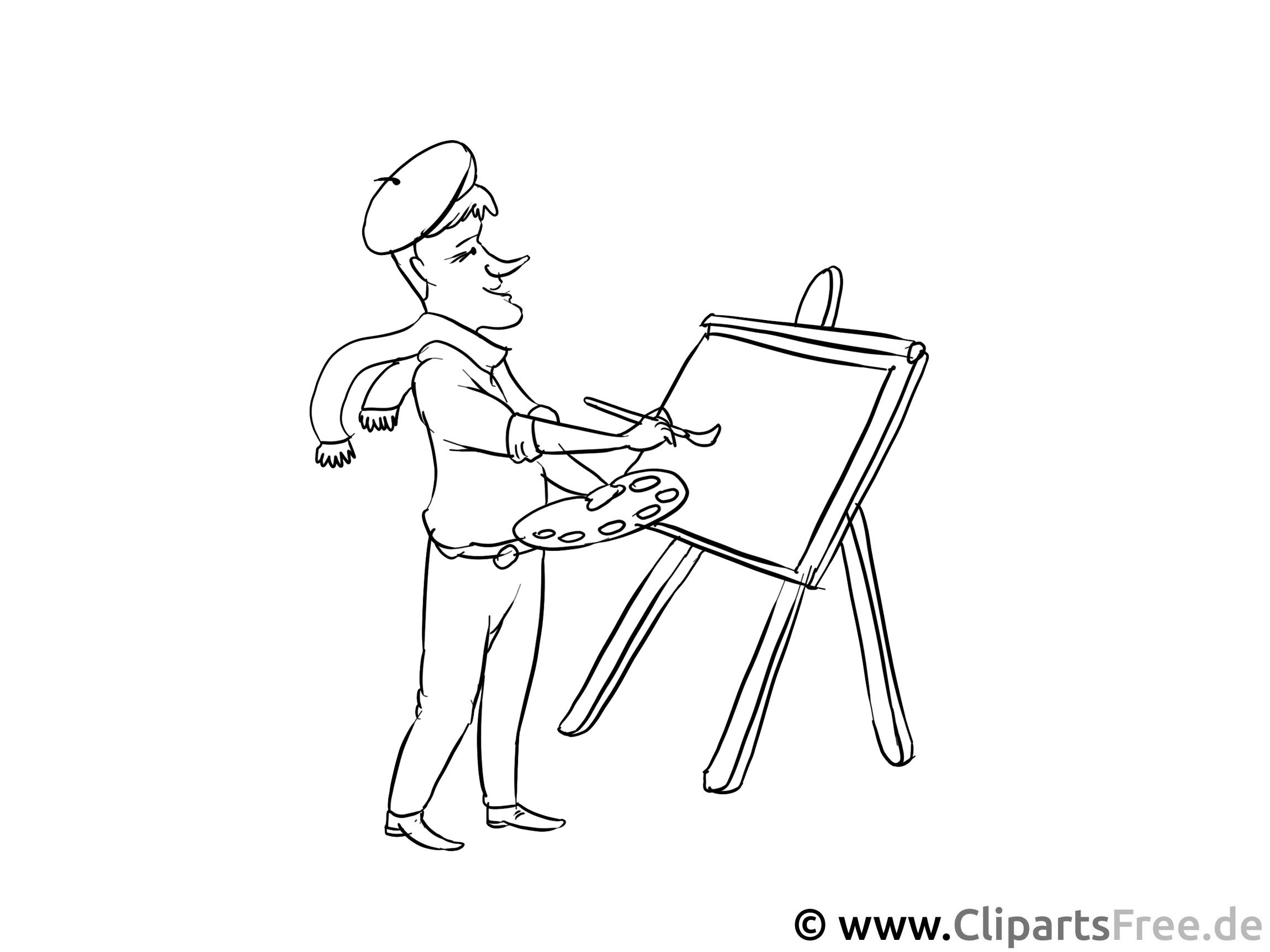 Künstler - Malvorlagen Berufe