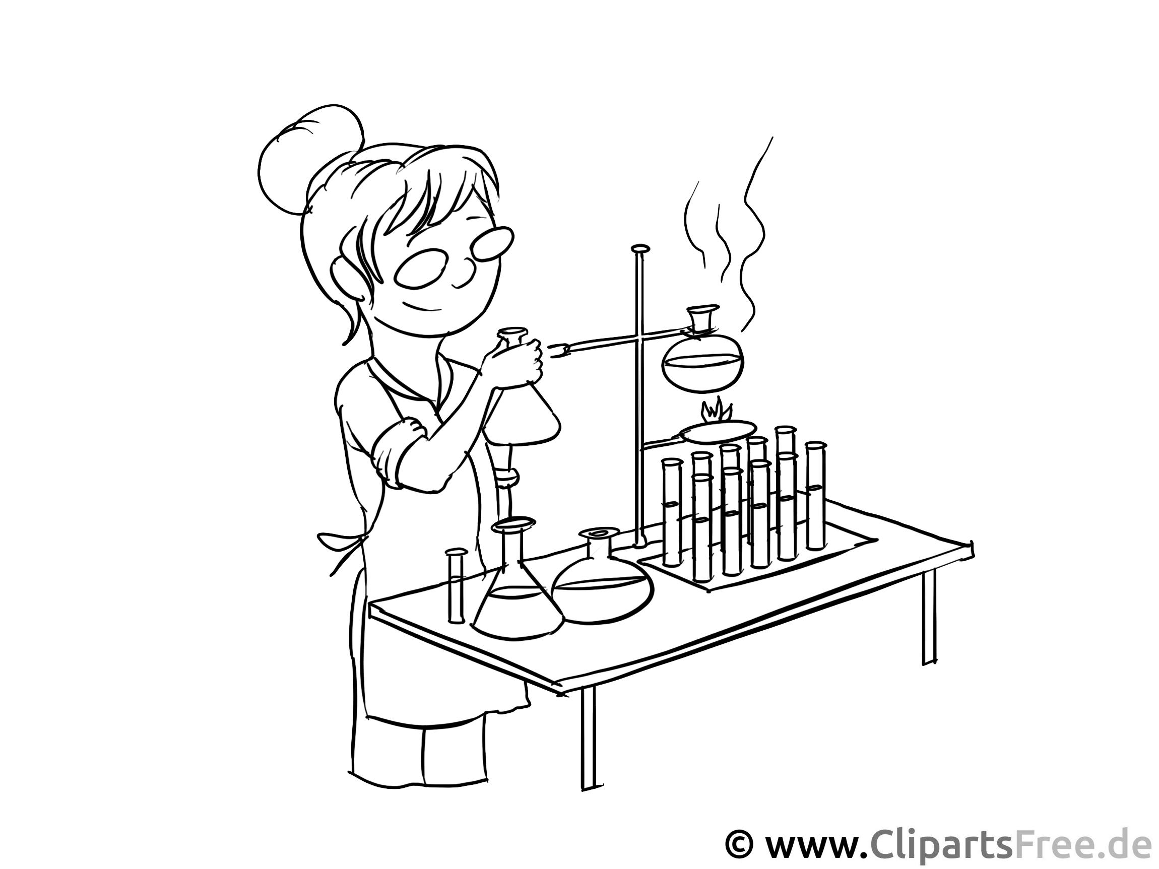 Laborantin - gratis Ausmalbilder zum Ausdrucken