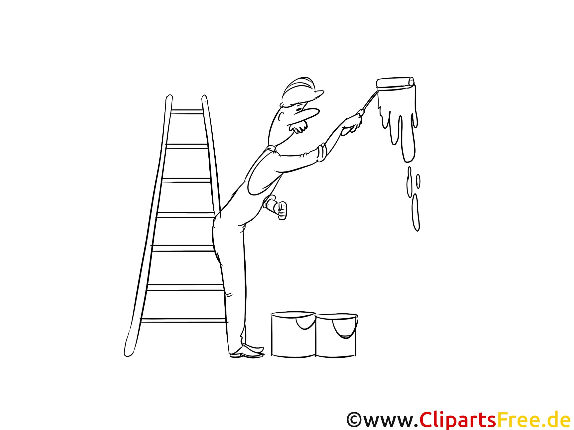 Maler Malvorlage zum Drucken und Ausmalen