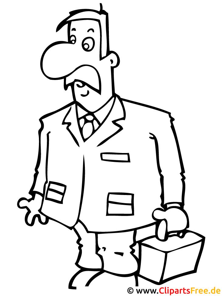 Mann Malvorlage - Malbild zum Ausmalen