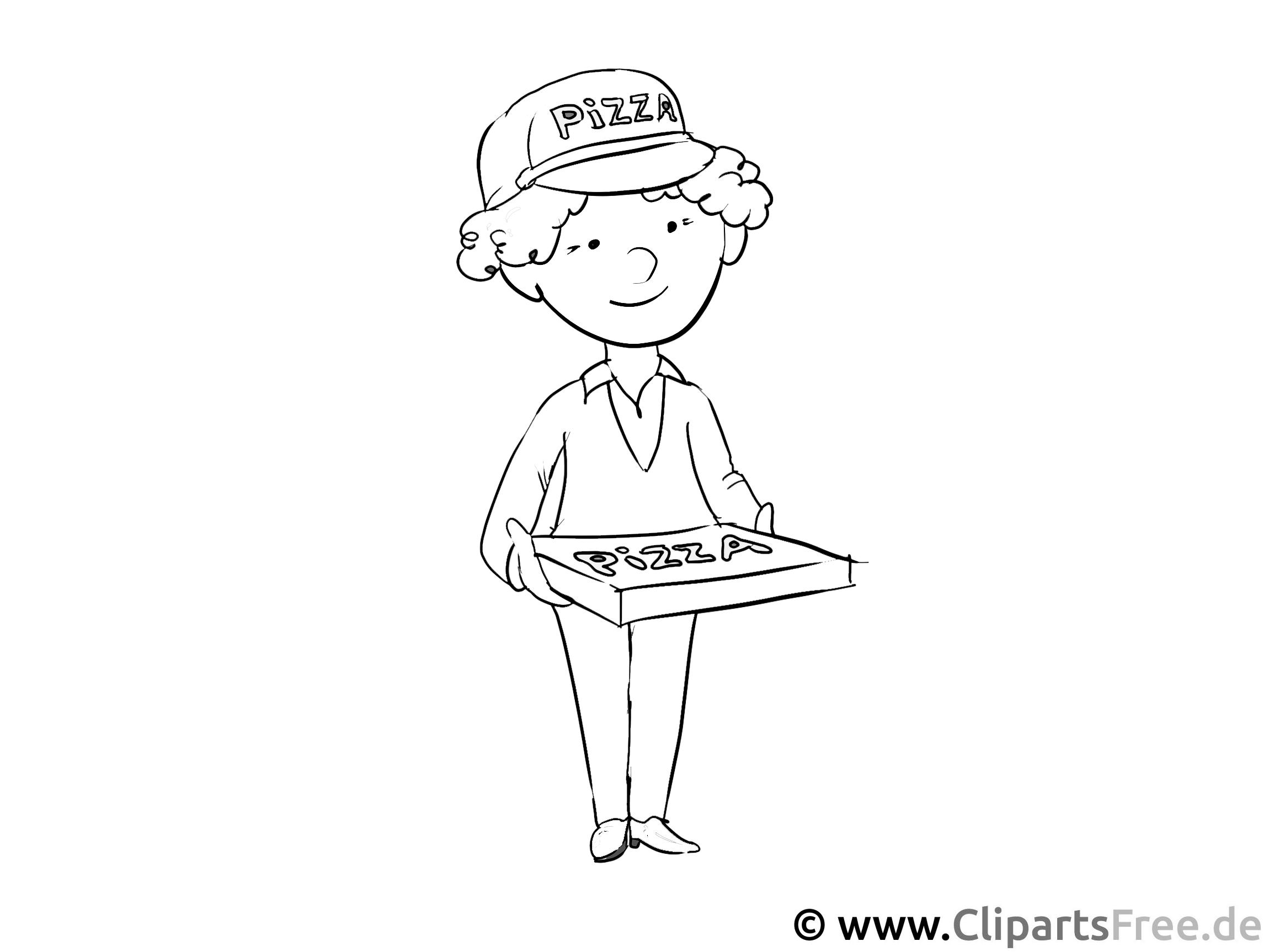 Pizzaträger - Malvorlagen Berufe