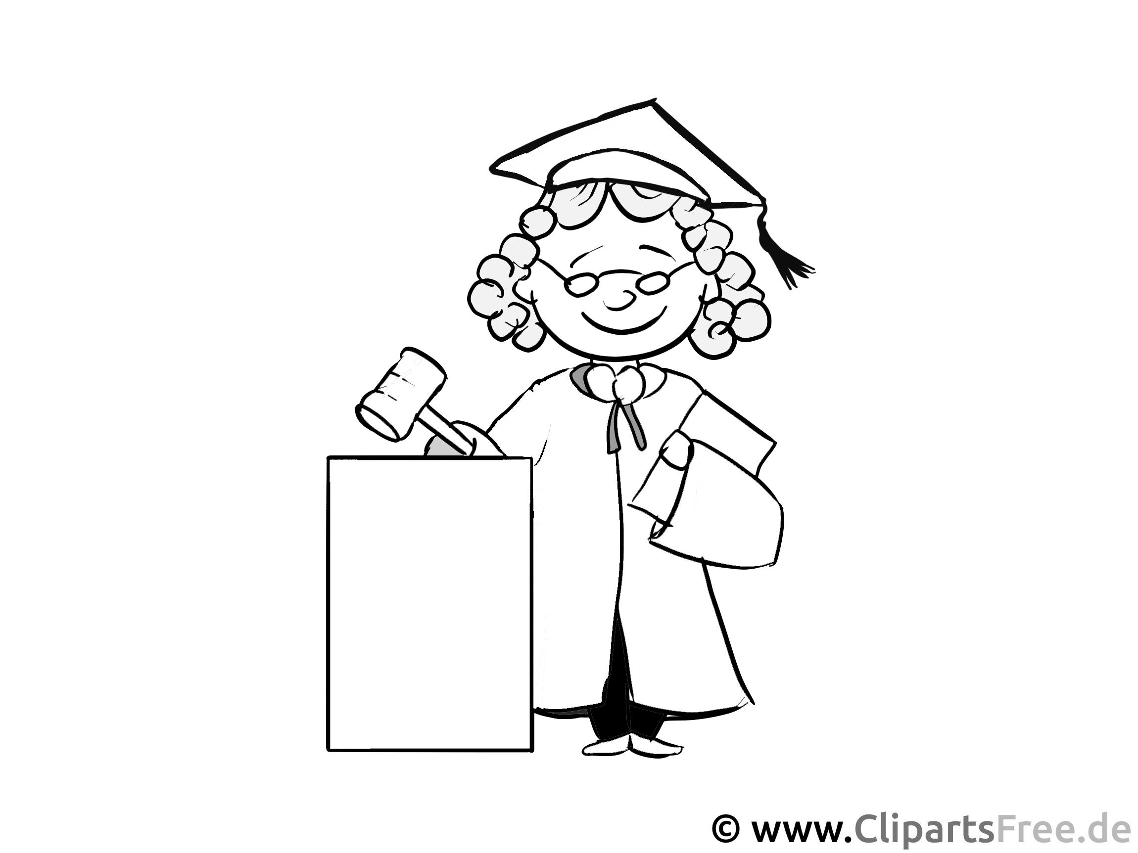 Richter Malvorlage - Arbeitsblätter und Malvorlagen Berufe