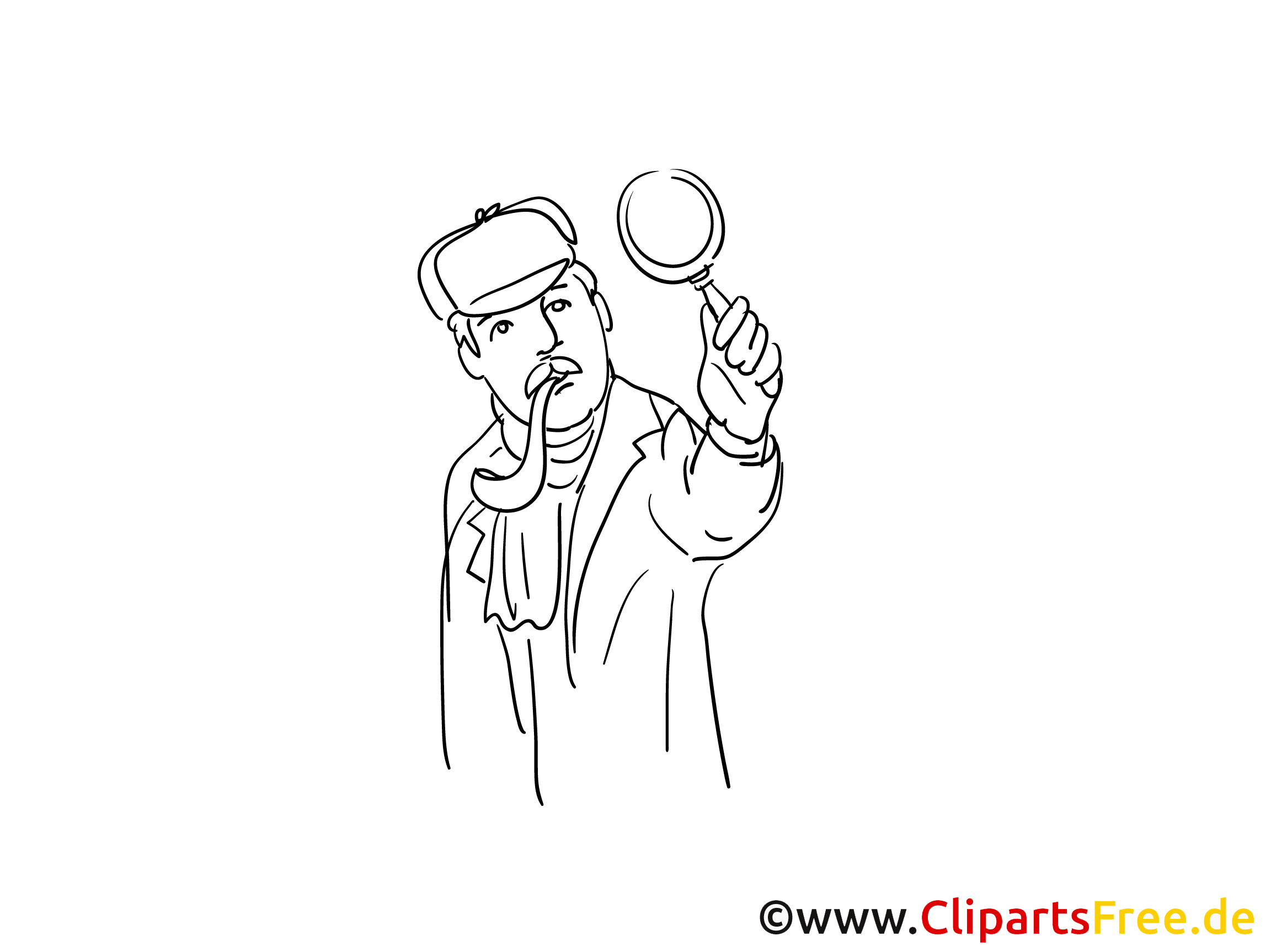 Sherlock Holmes Detektiv - Ausmalbilder Polizei