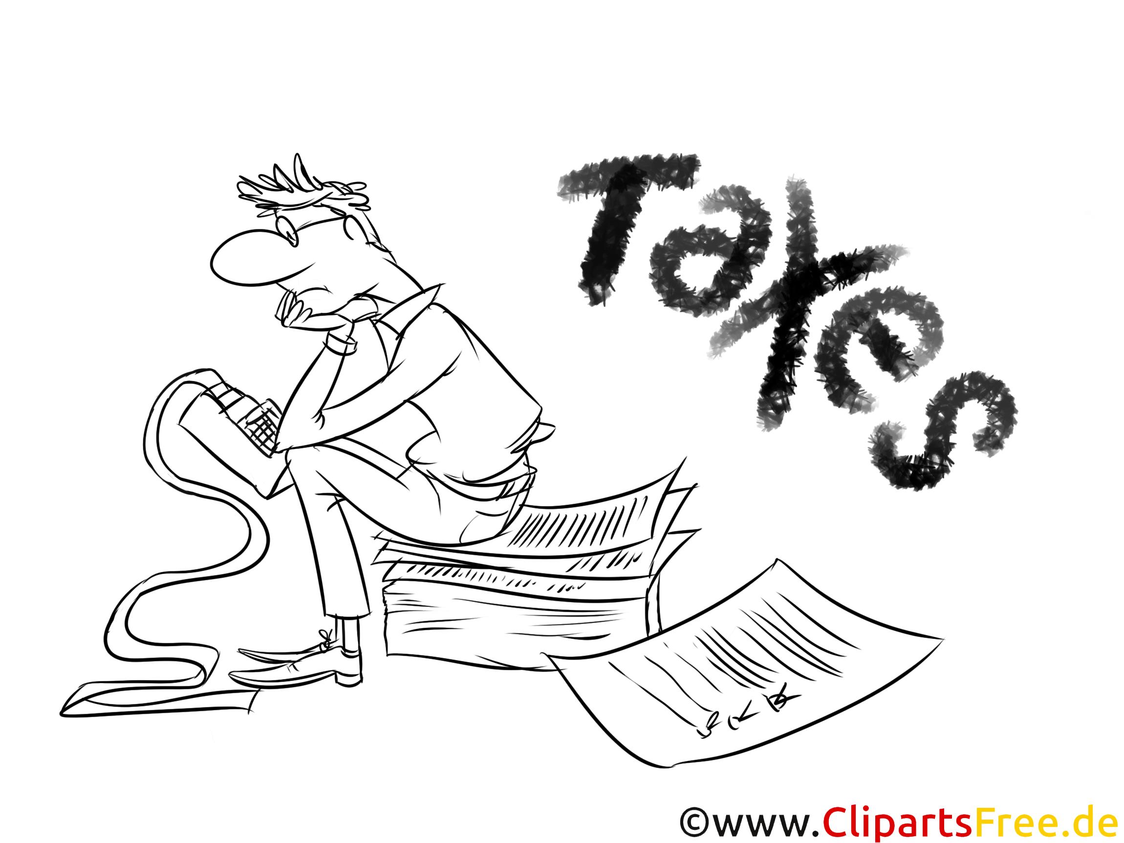Gratis Bild zum Ausmalen Steuererklärung