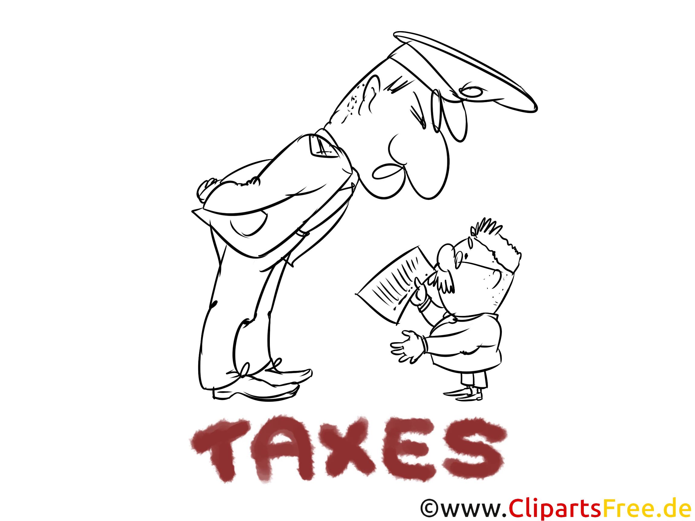 Gratis Malvorlage Beamte, Steuerzahler