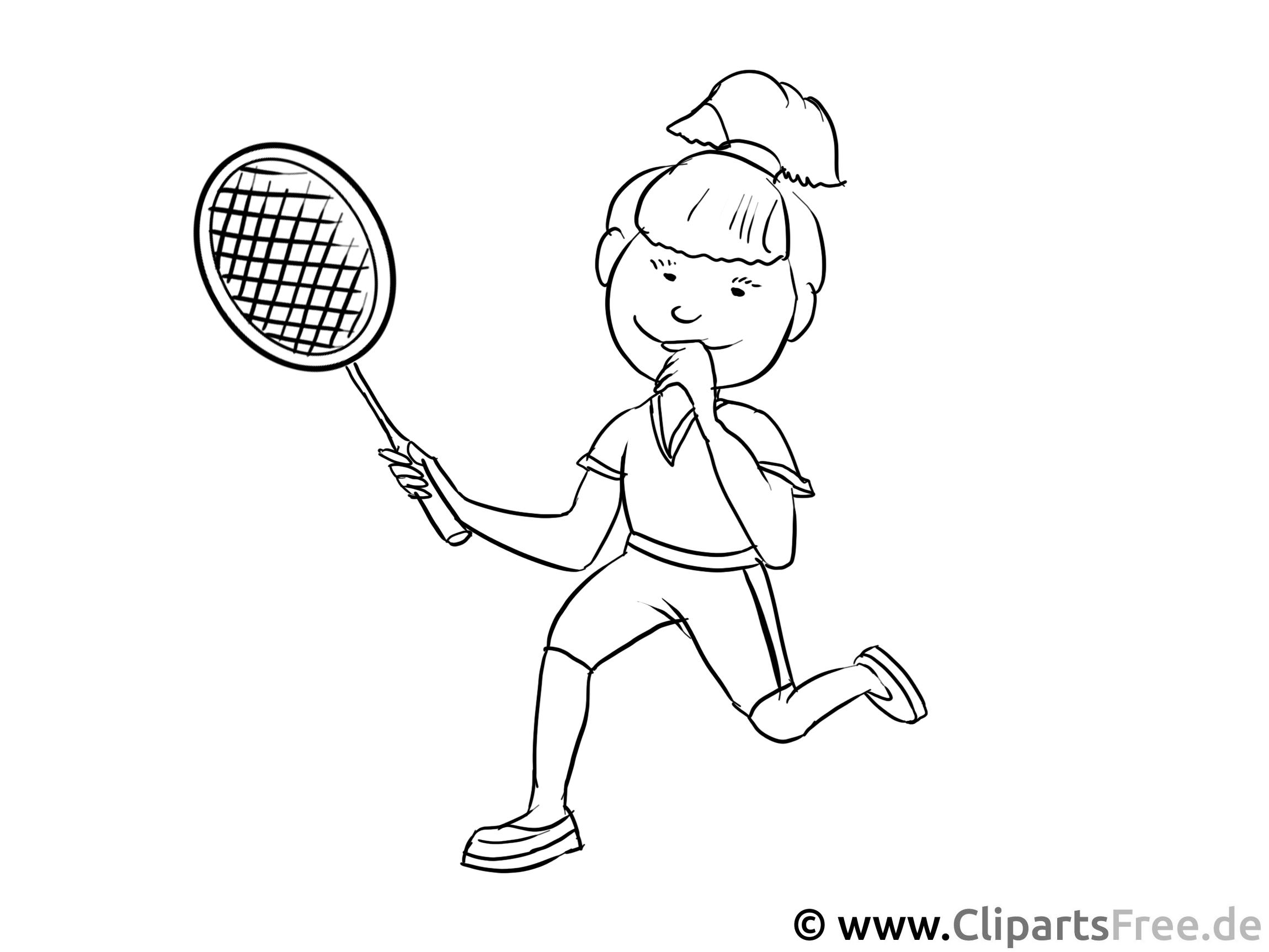 Tennisspielerin Malvorlage - Berufe Ausmalbilder für den Unterricht