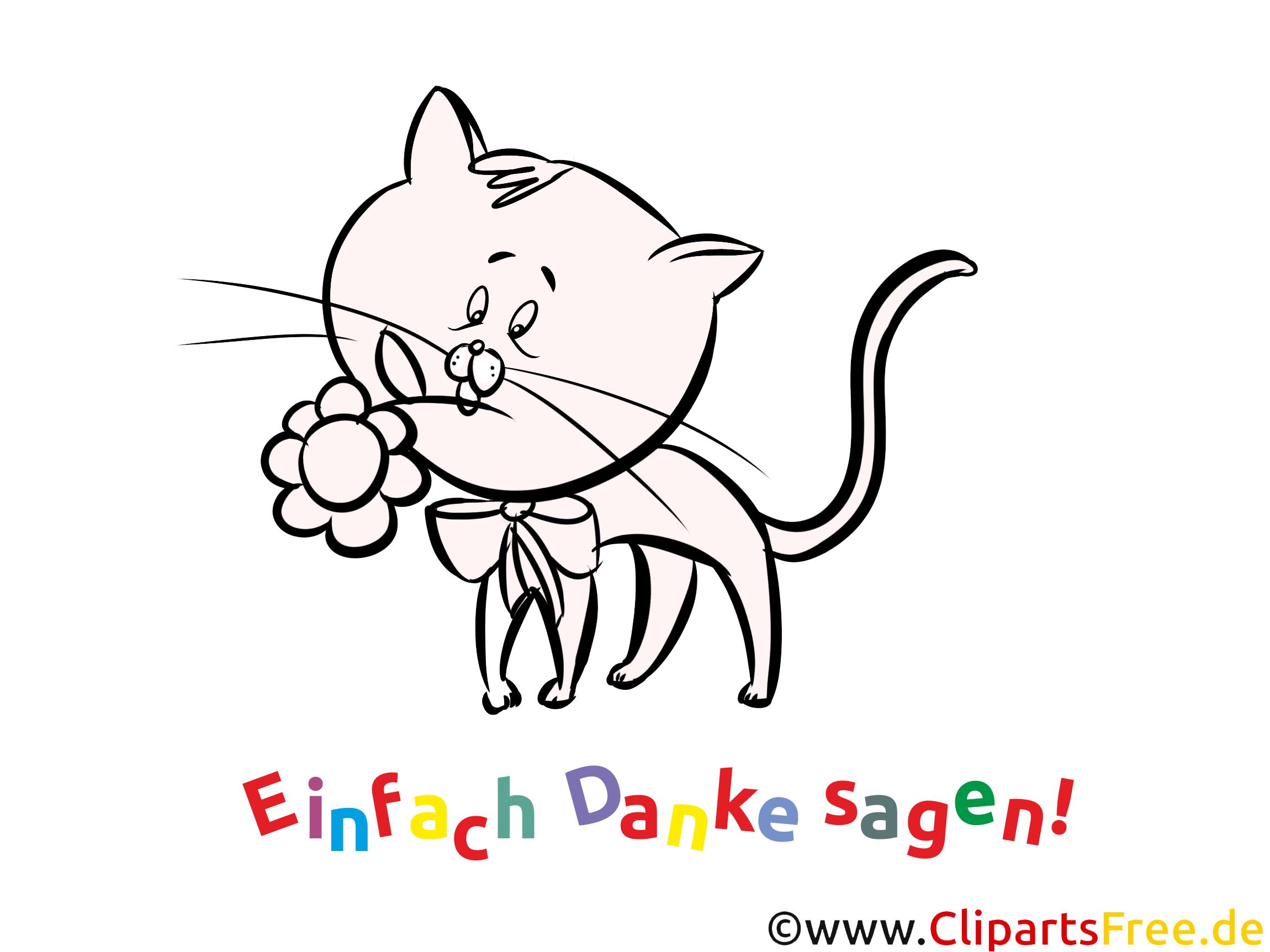 Ausmalbild Danke Katze