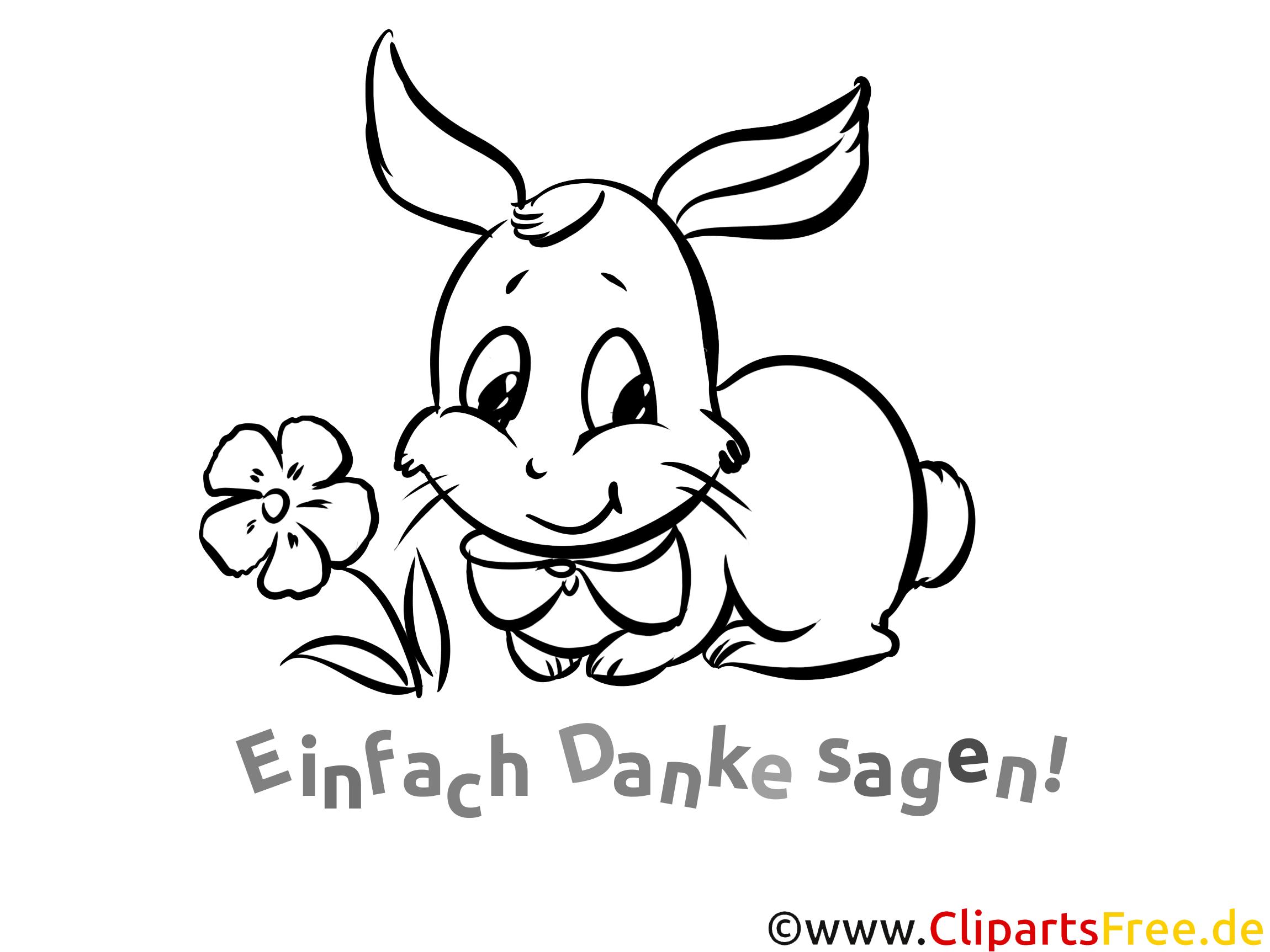 Blume Kaninchen Ausmalbilder Dankworte zum Drucken
