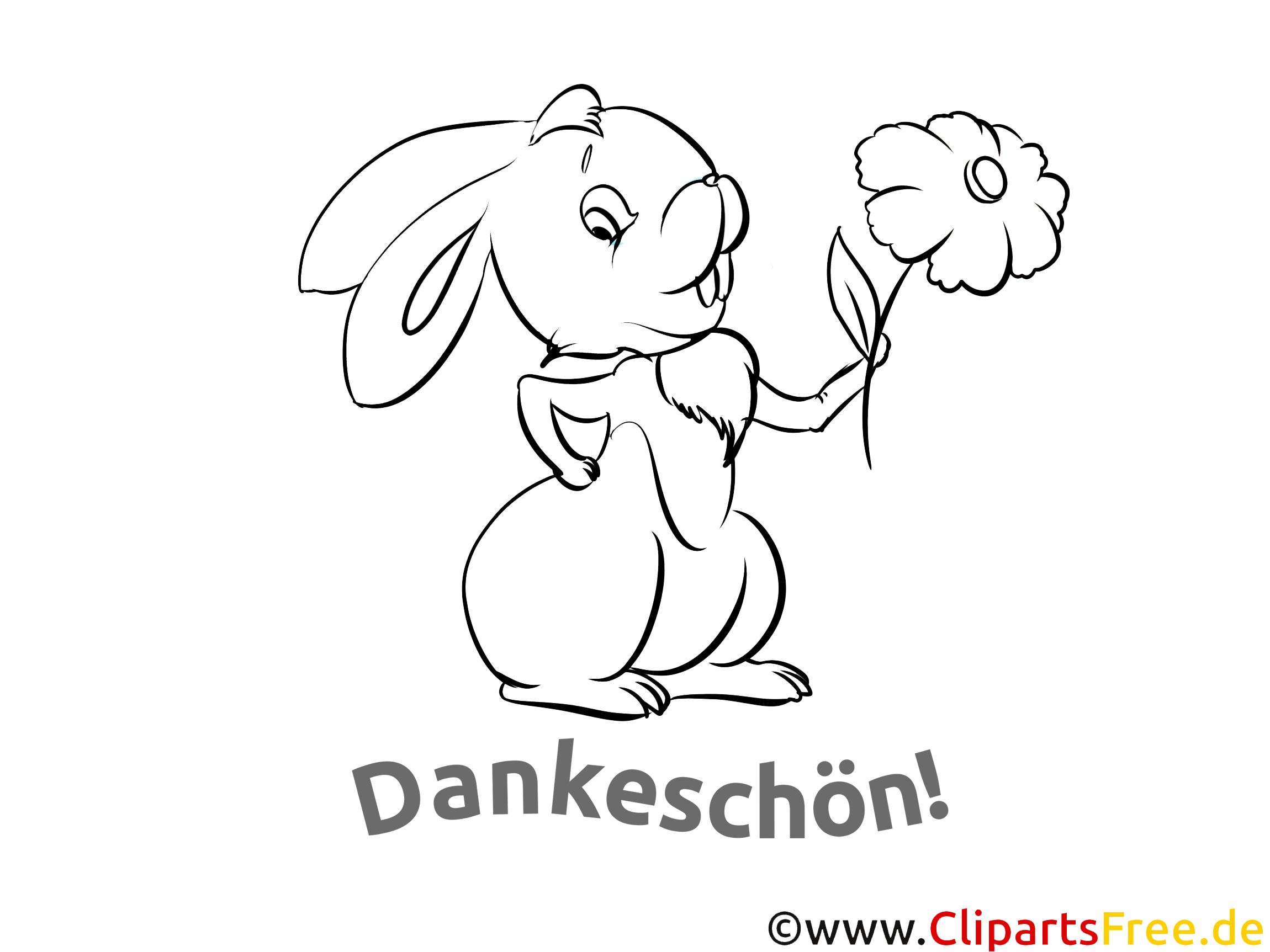 Kaninchen Ausmalbilder Dankworte zum Drucken