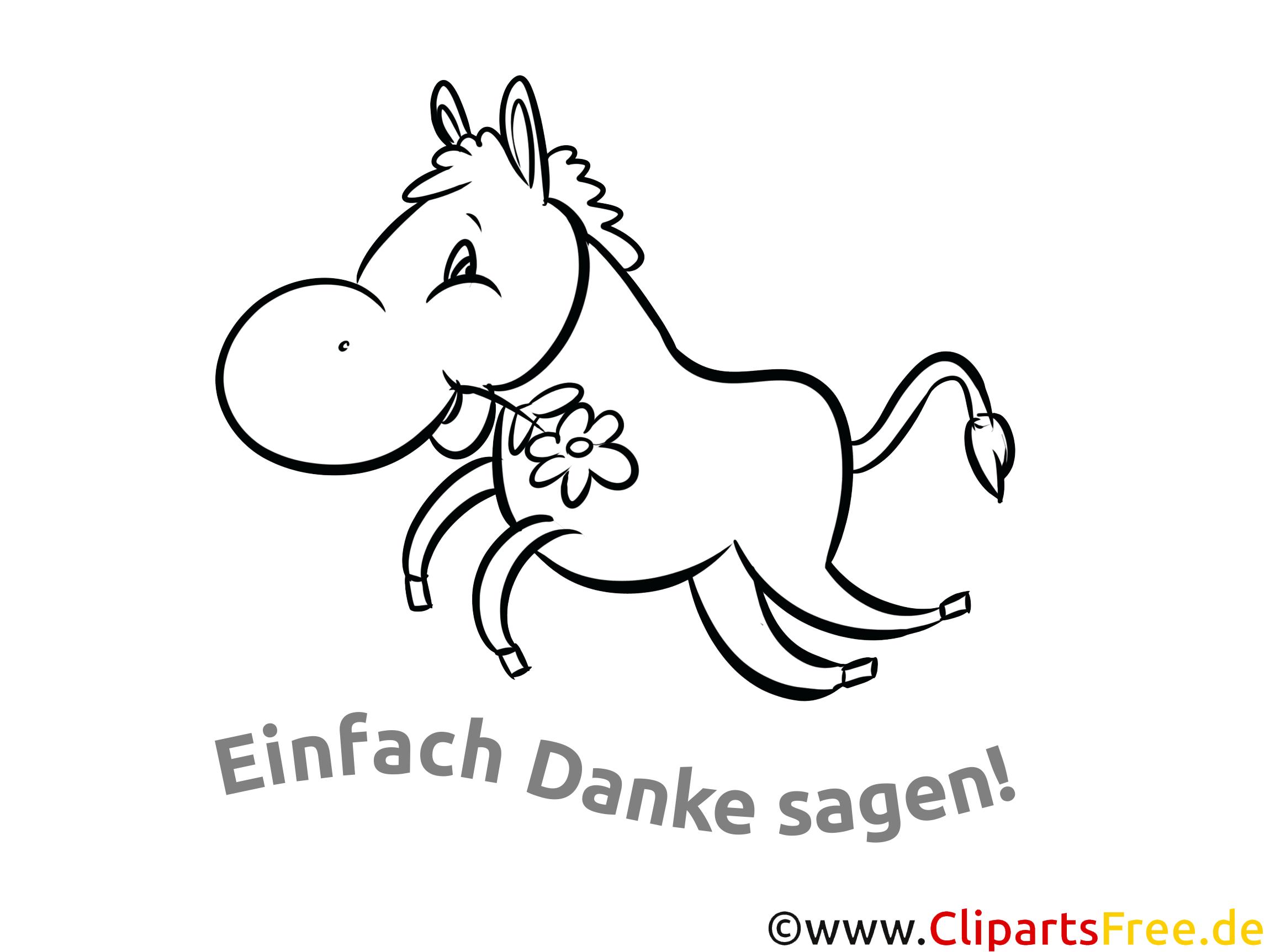 Pferd Dankeskarte selber drucken