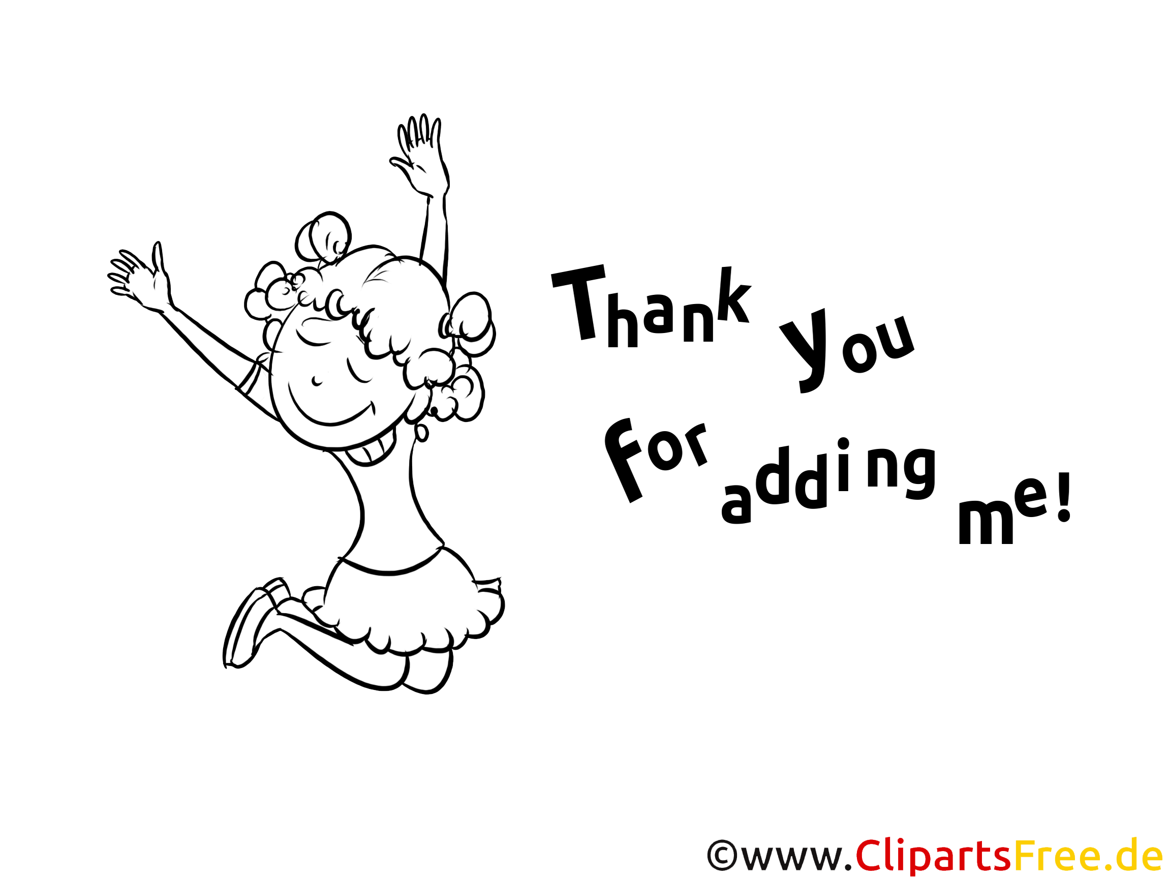 Thank you for adding me Colouring Sheet free