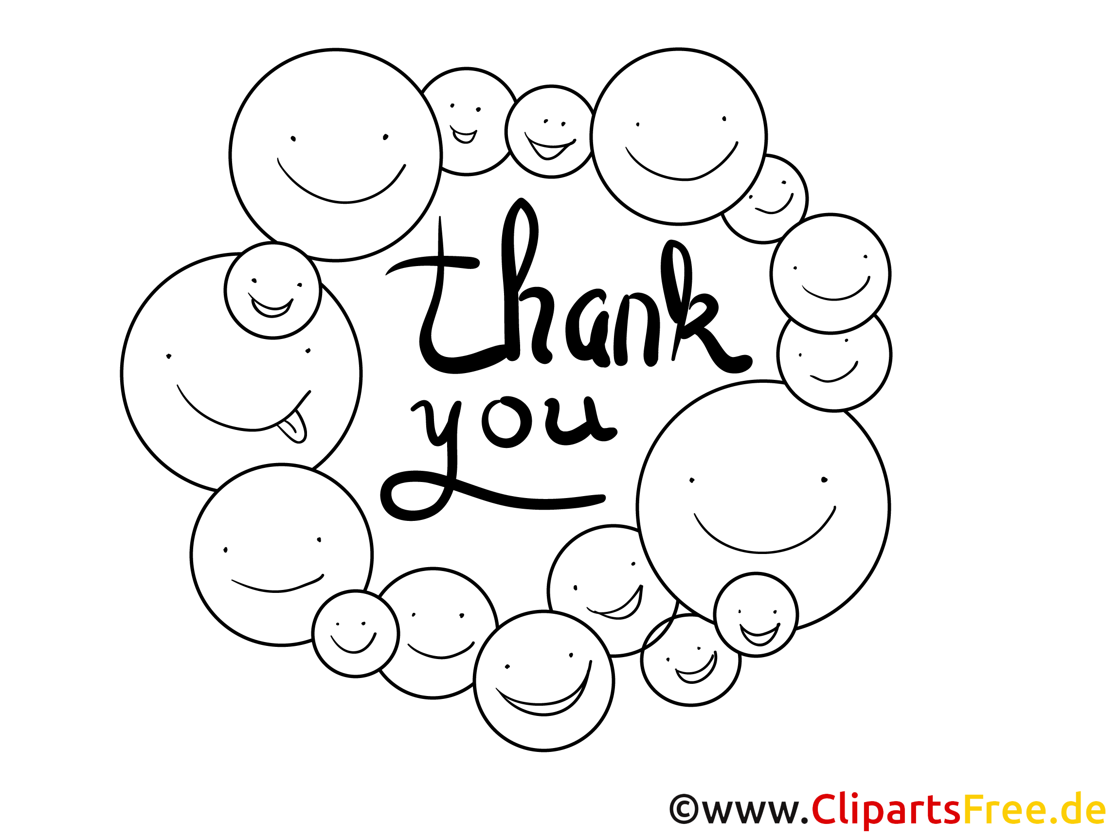 Thank You Smilies to color