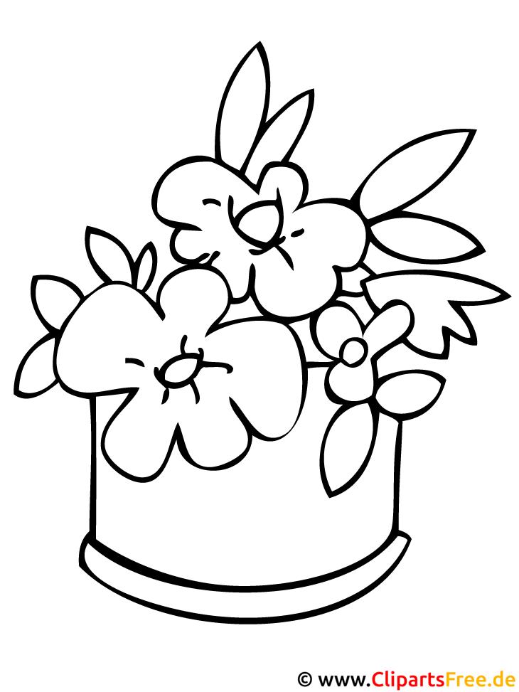 Blumen Ausmalbild zum Ausmalen