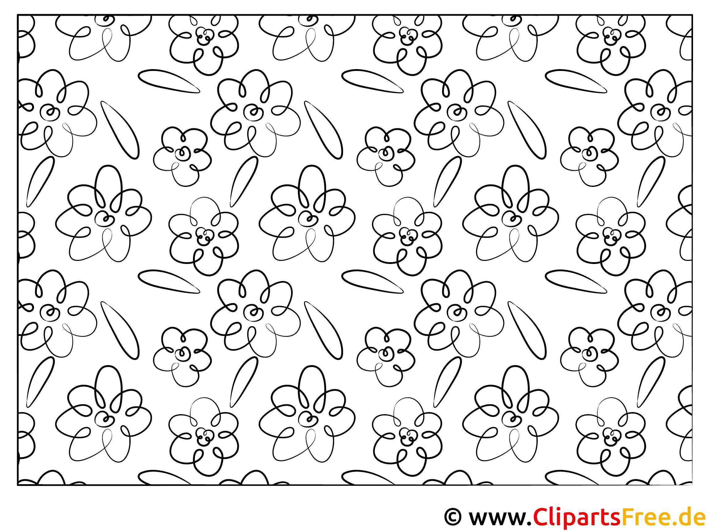 Blumen Grafik zum Ausmalen