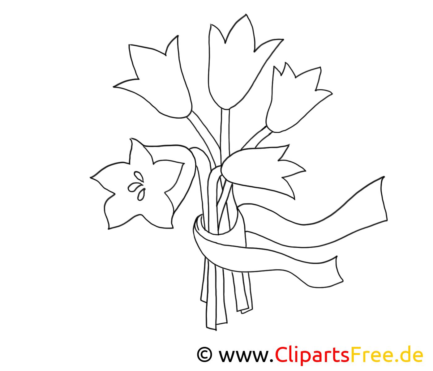 Blumen zum Ausmalen gratis