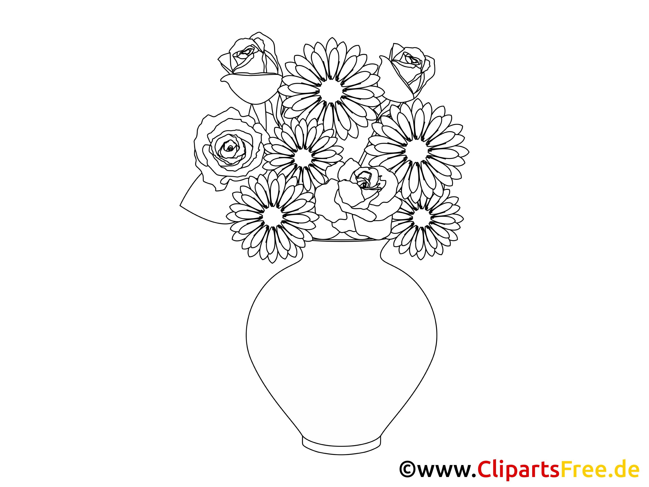 Blumenvase Malbild